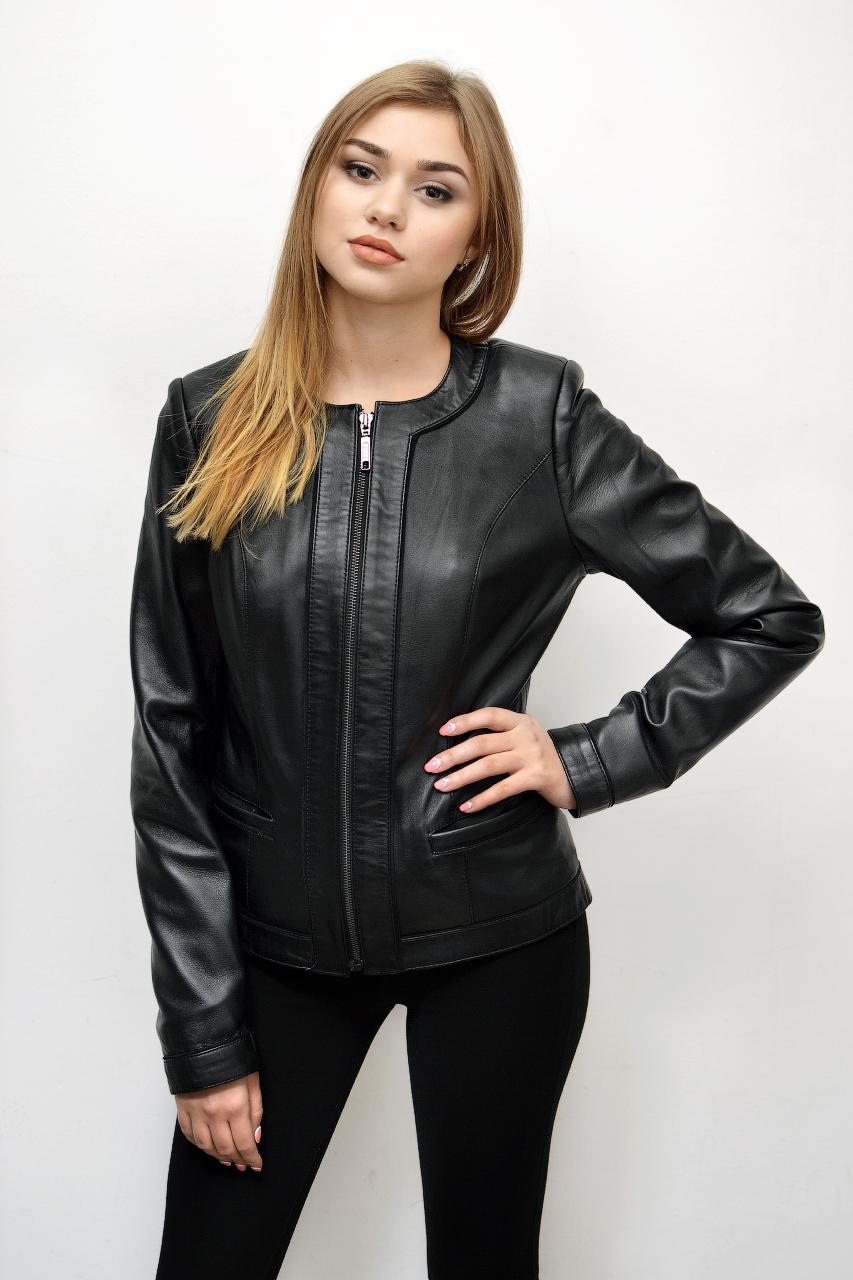 Кожаная куртка — шанель