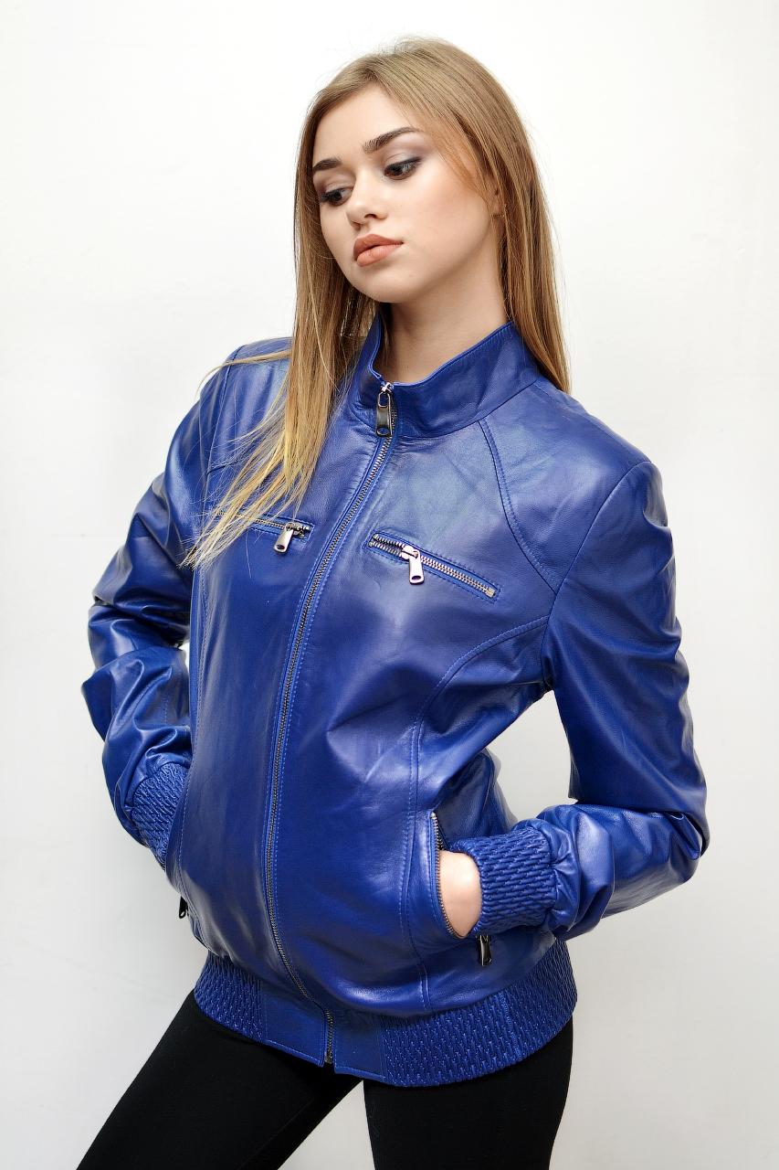 Кожаная куртка под резинку