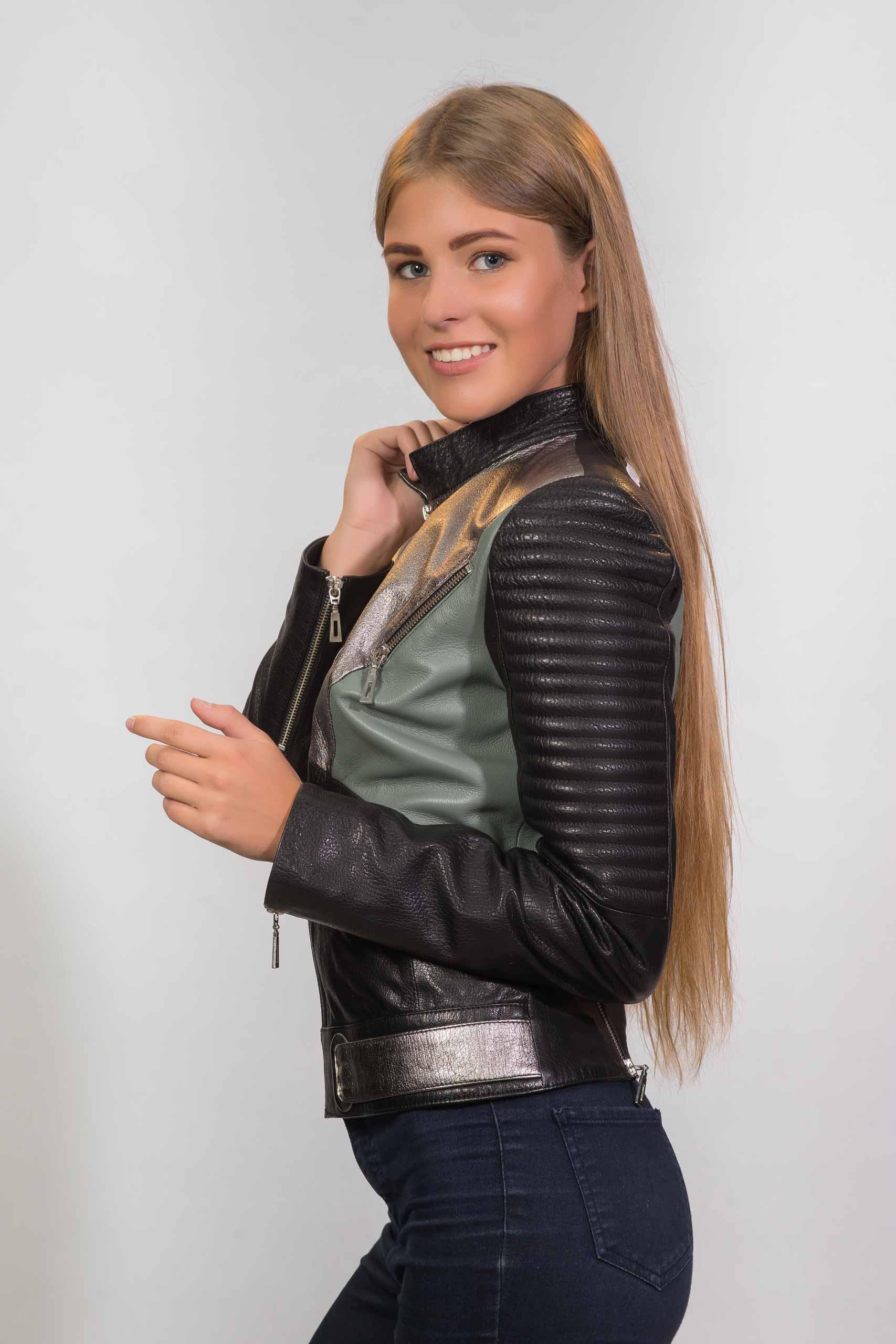 Женская куртка из натуральной кожиZ-3277