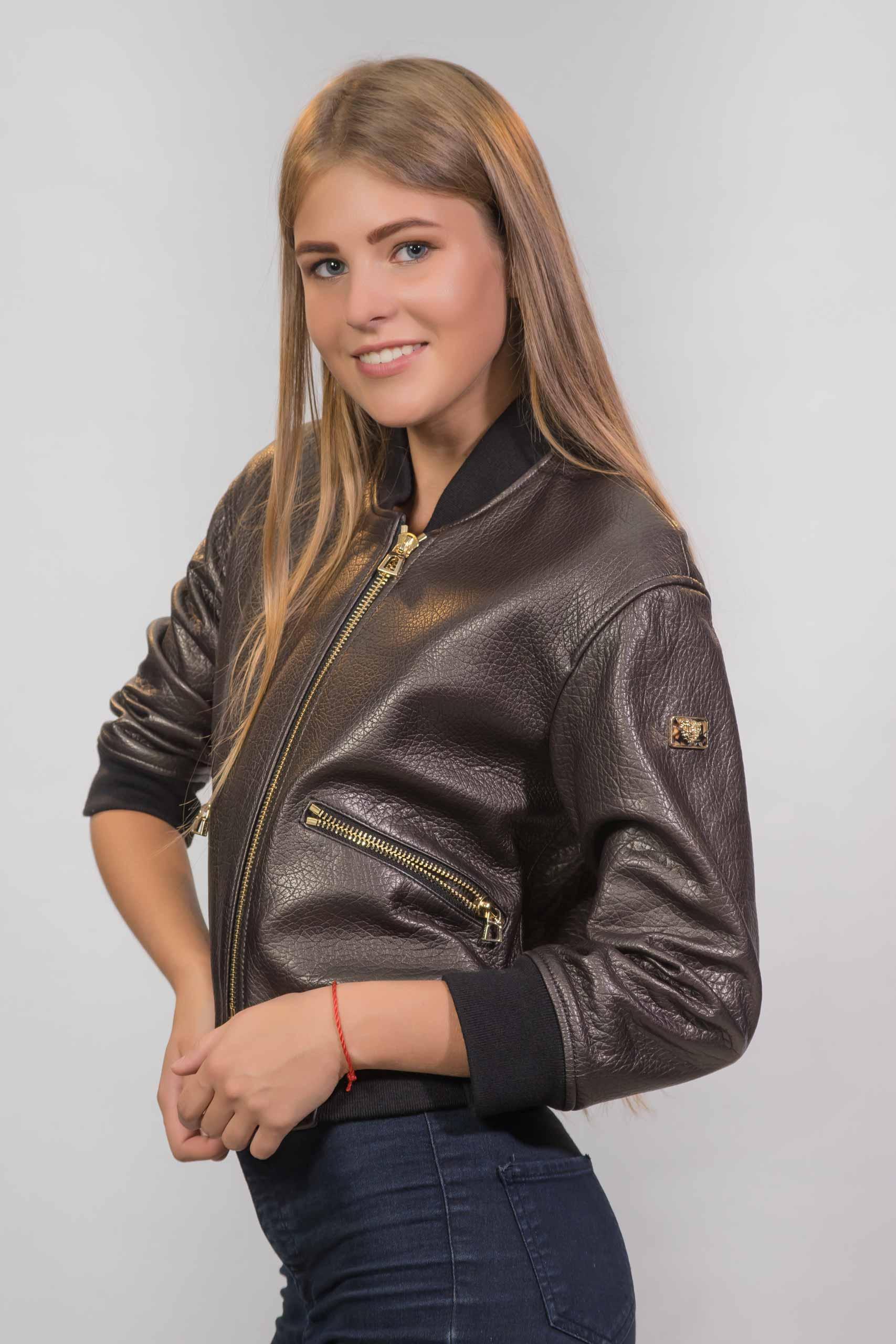 Женская Кожаная куртка из натуральной кожи1727