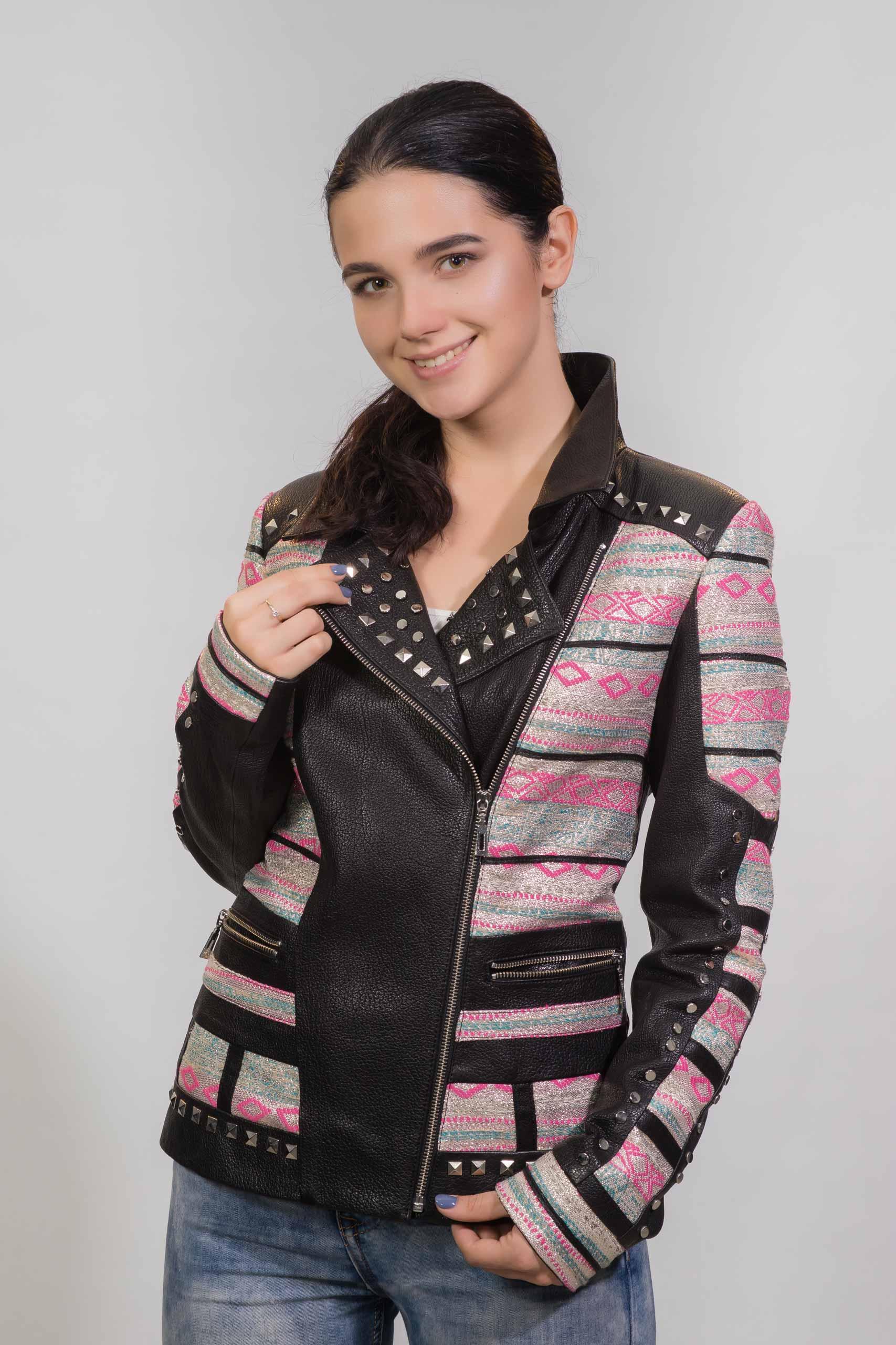 Женская Кожаная куртка из натуральной кожиZ-3889
