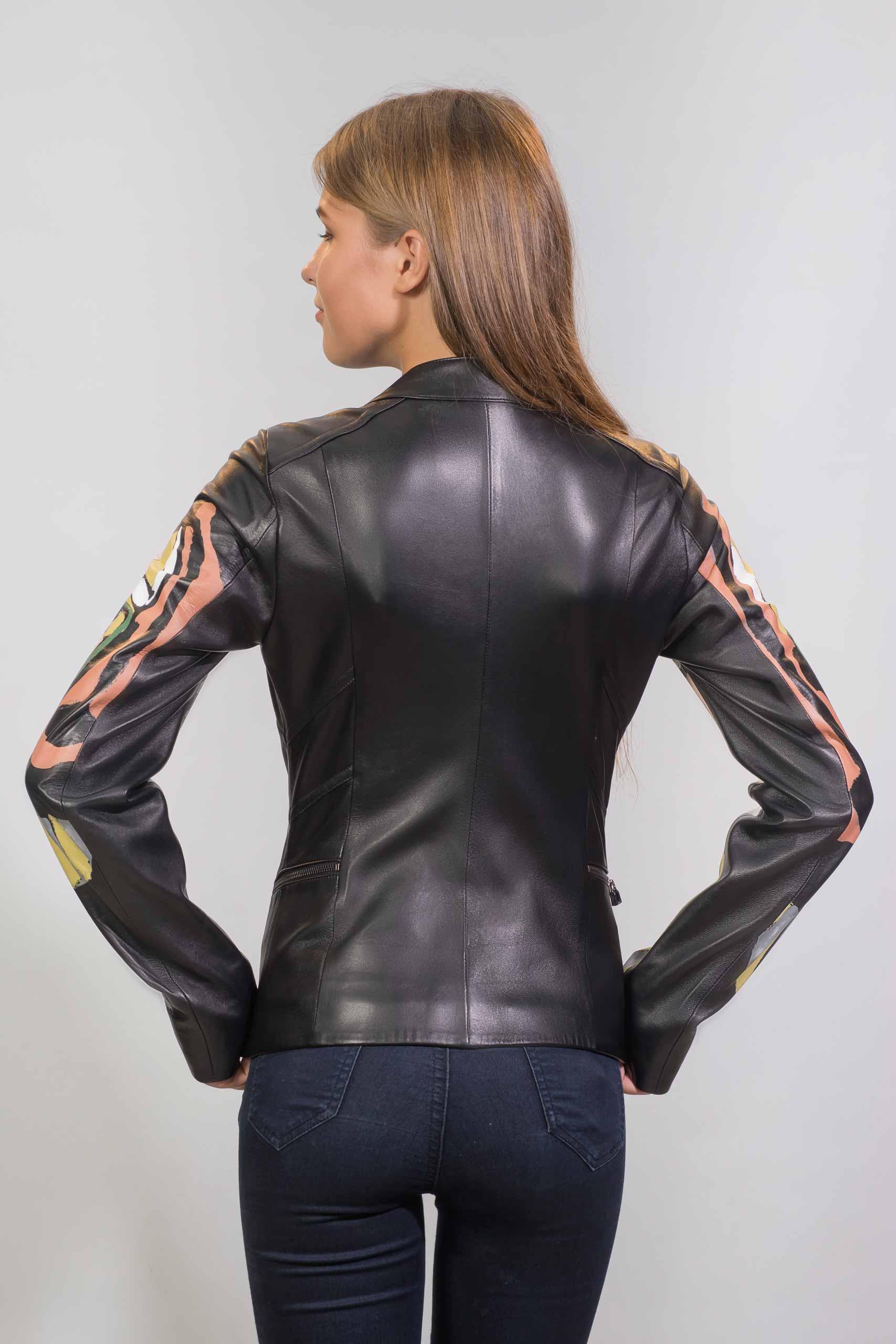 Женская Кожаная куртка из натуральной кожи1614