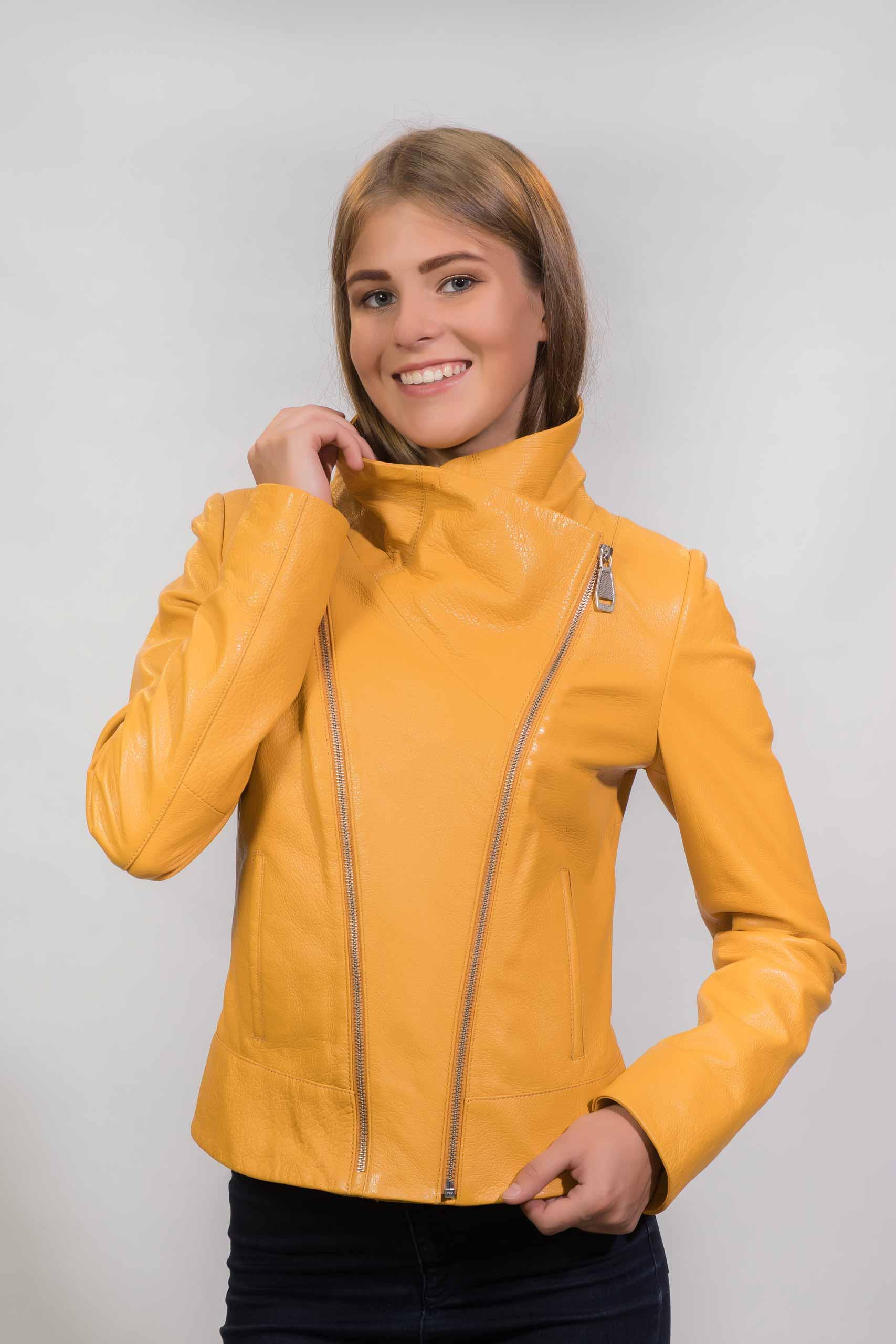 Женская Кожаная куртка из натуральной кожиZ-1629