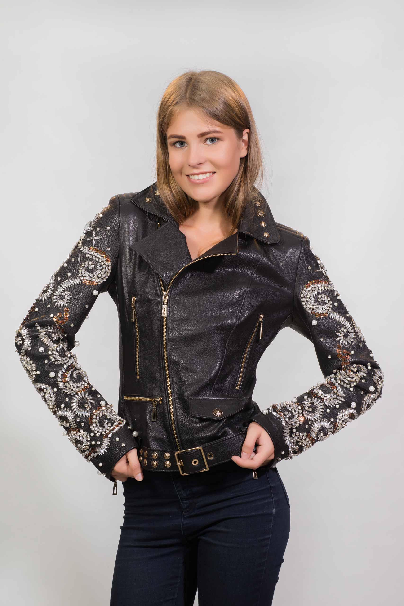 Женская куртка из натуральной кожиZ-3266