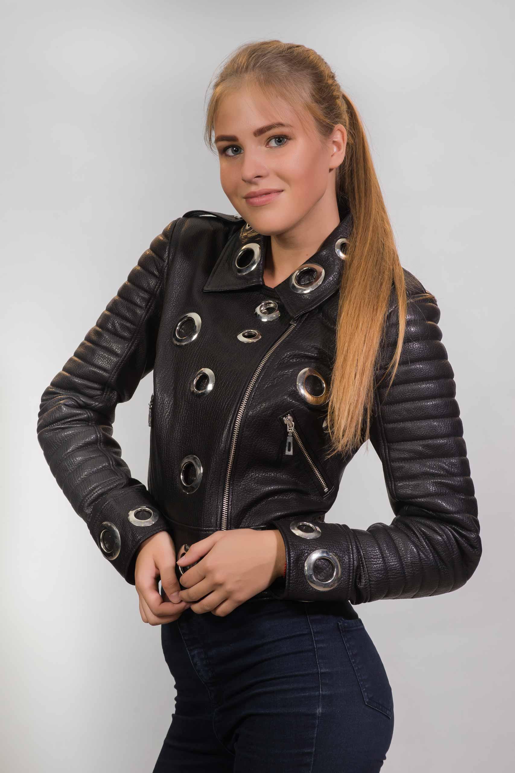 Женская куртка из натуральной кожиZ-3051