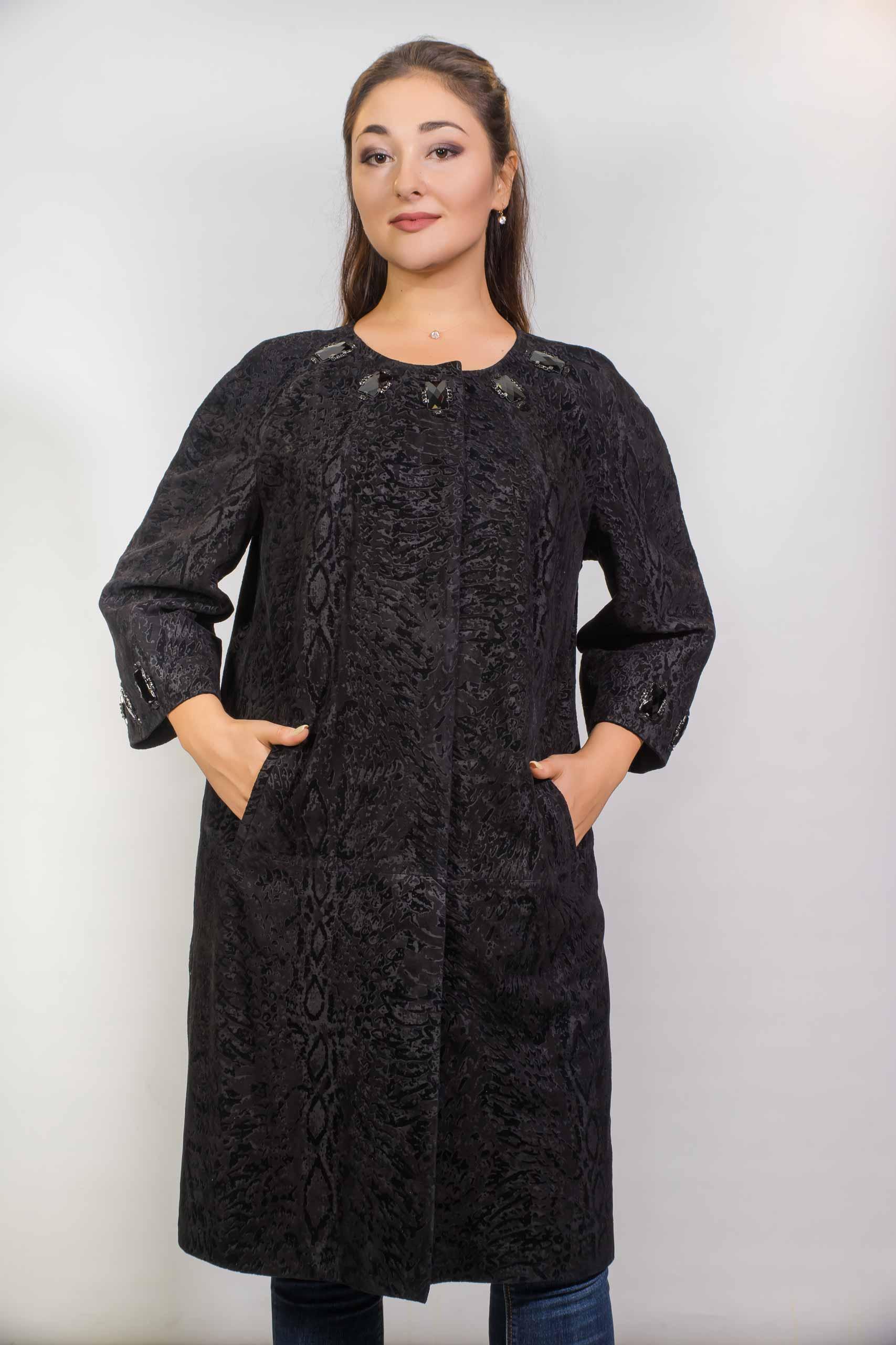 Женское пальто из кенгуру14-2-410-02