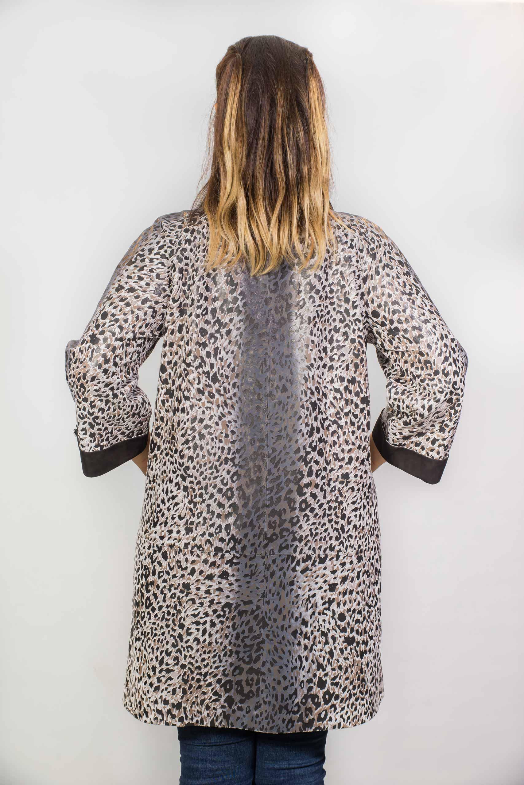 Женское пальто из натуральной кожи14-ZY-570