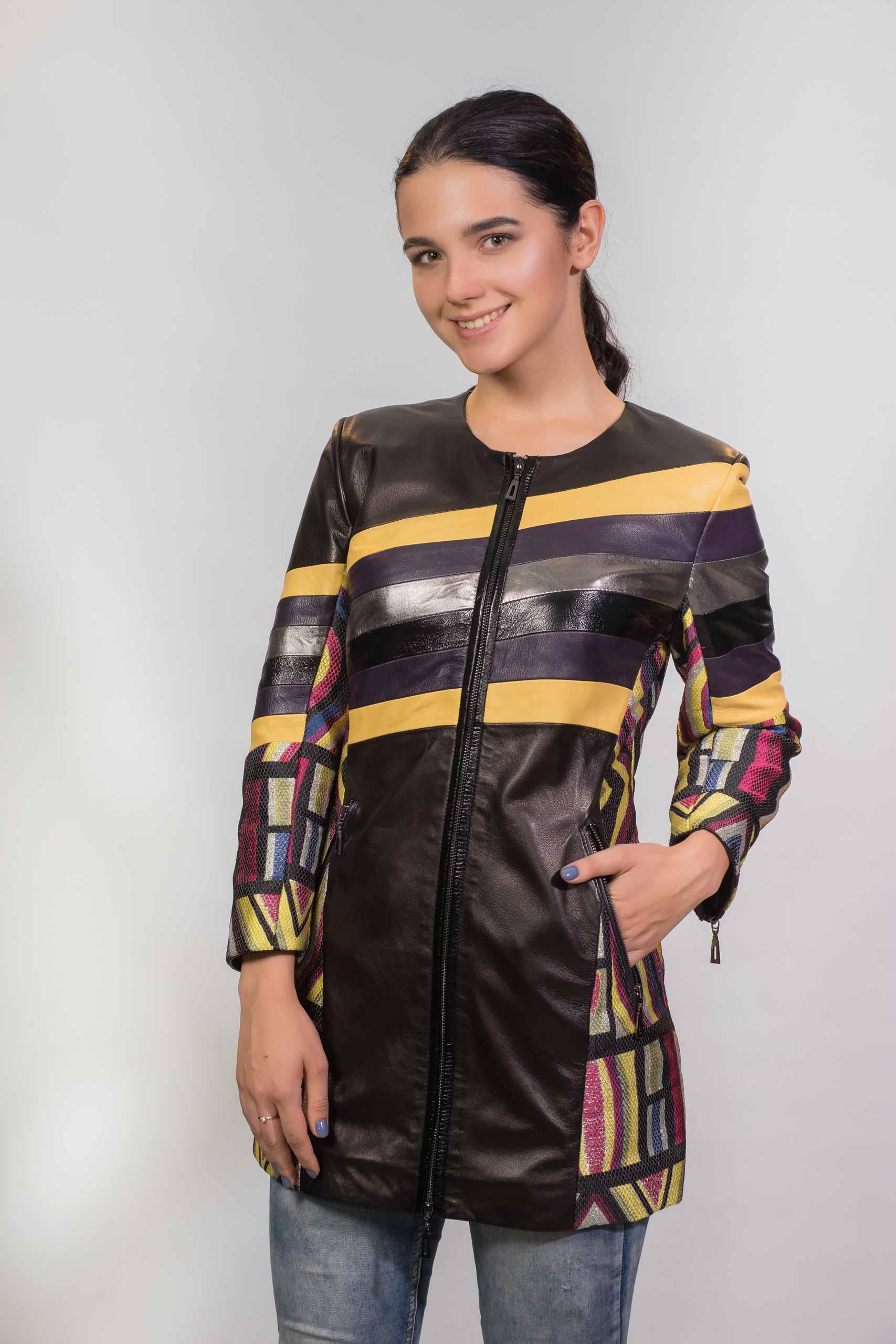 Женское Кожаное пальто из натуральной кожиZ-3297