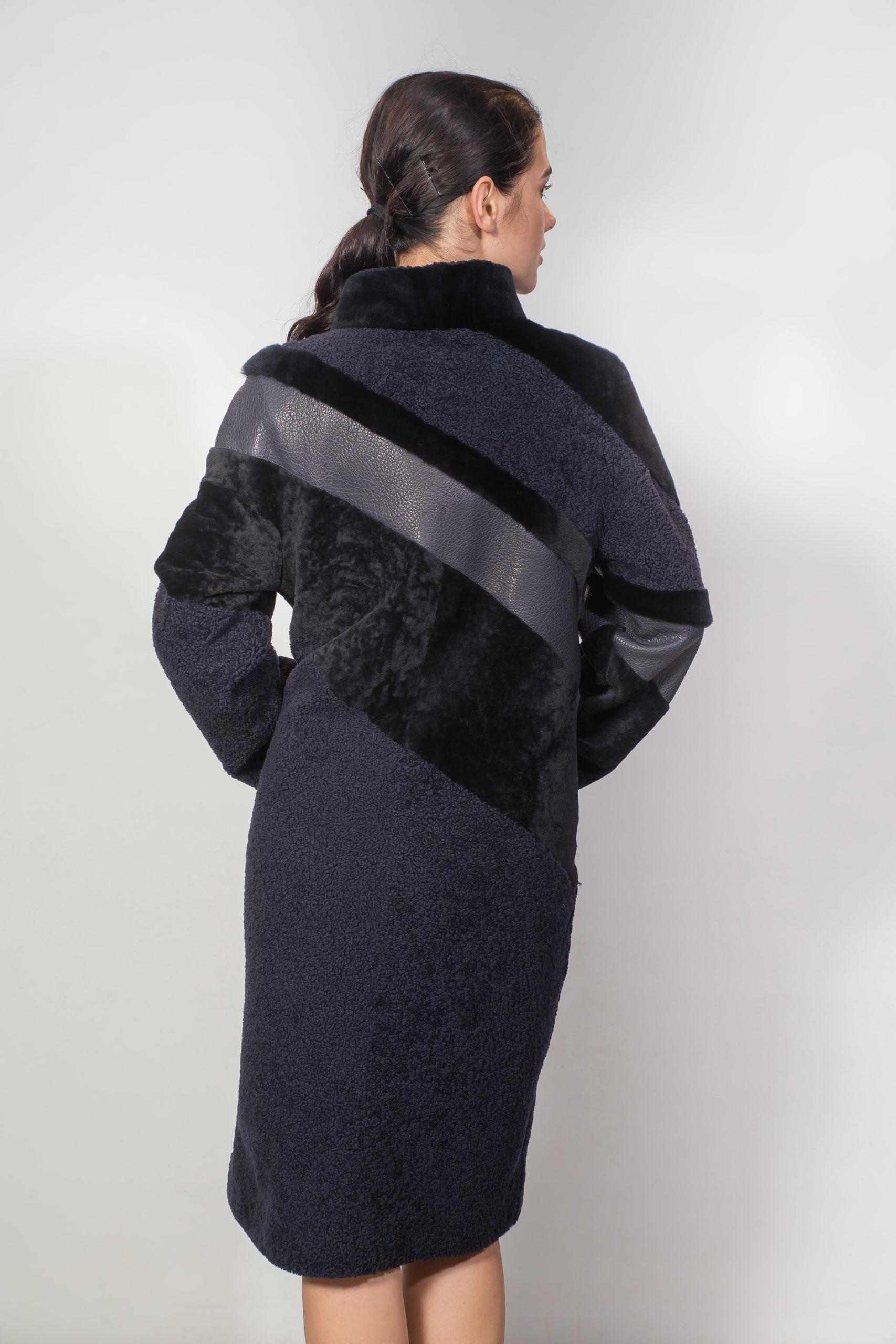 Женская шуба из меха Астрагана K-1824