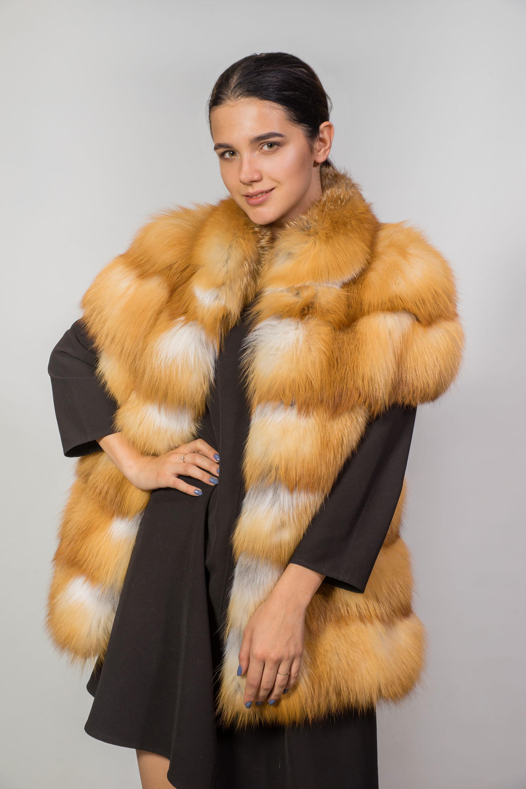 Женская жилетка из натурального меха лисы Red-Fox