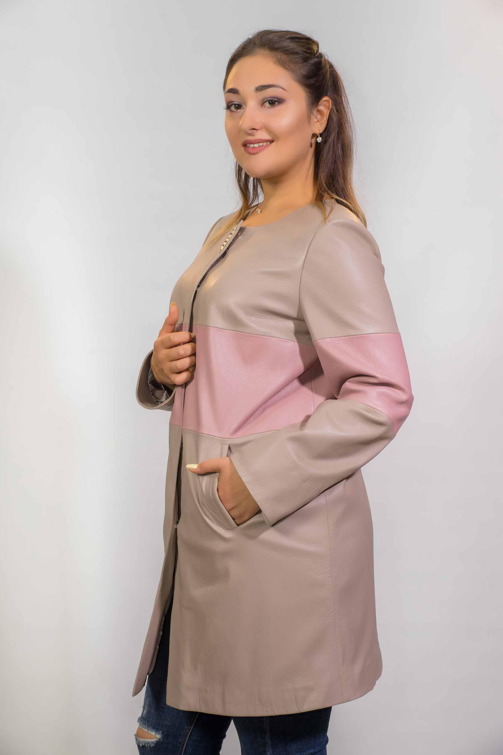 Женское Кожаное пальто из натуральной кожи18-Z-170-02