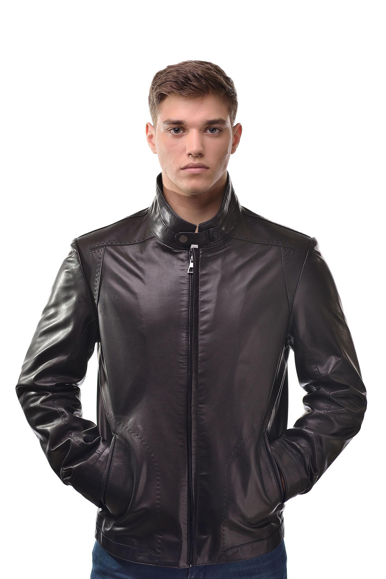 Мужская Кожаная куртка6115