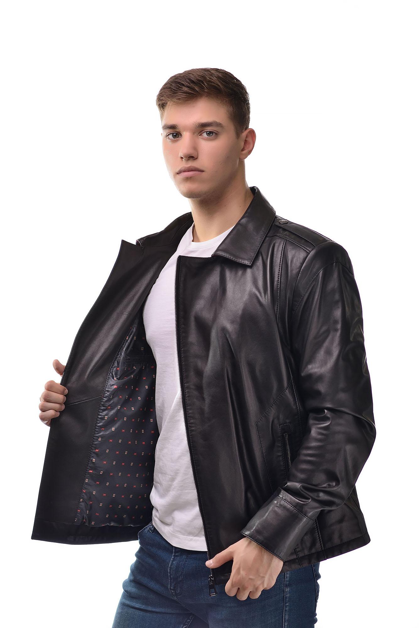 Мужская Кожаная куртка — косуха6116
