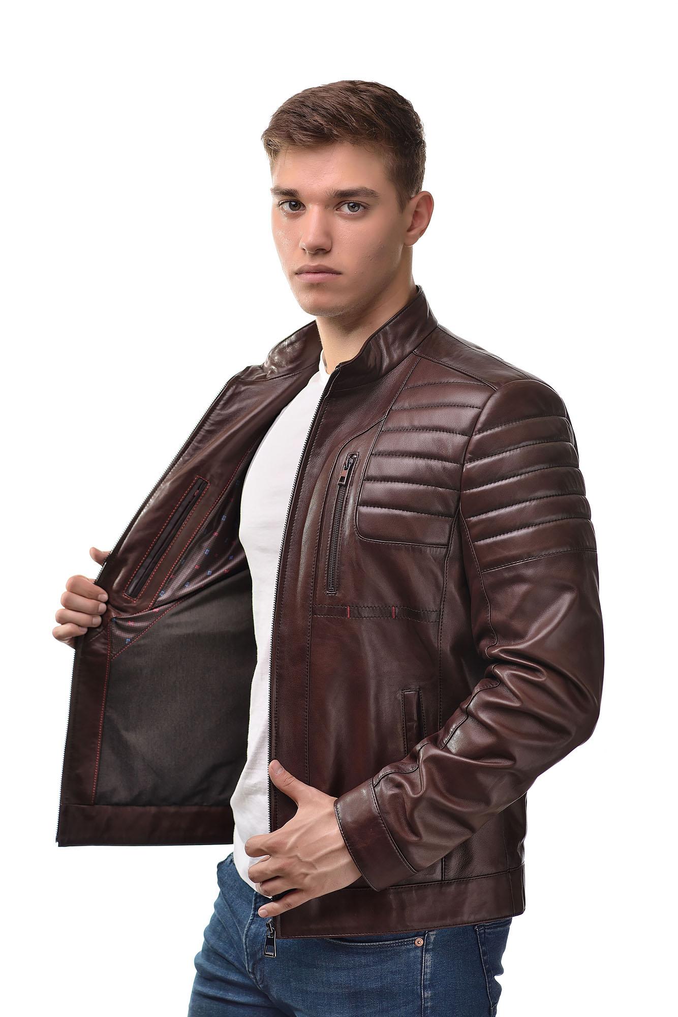Мужская Кожаная куртка 6151