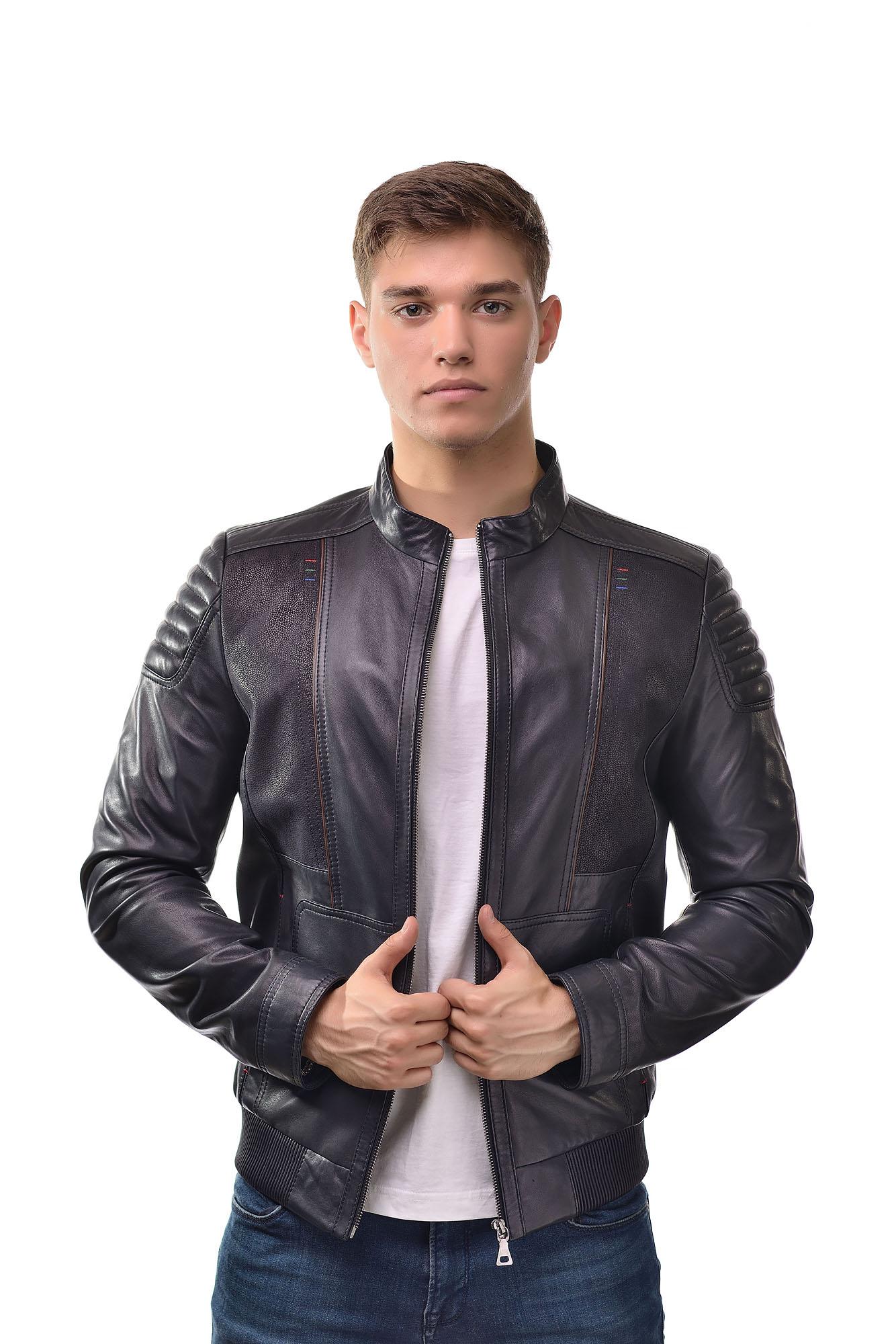 Мужская Кожаная куртка 6161