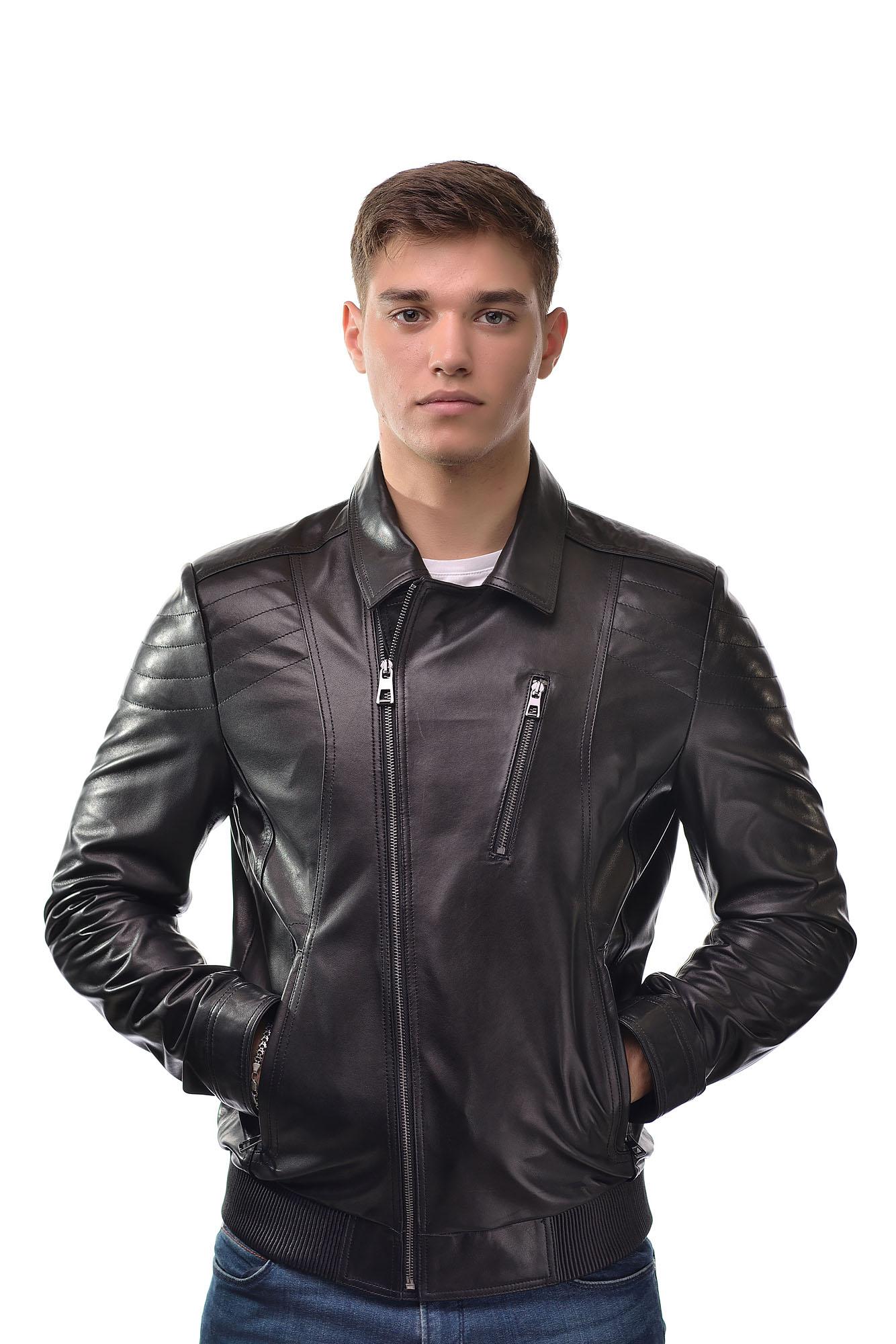 Мужская Кожаная куртка — косуха6162