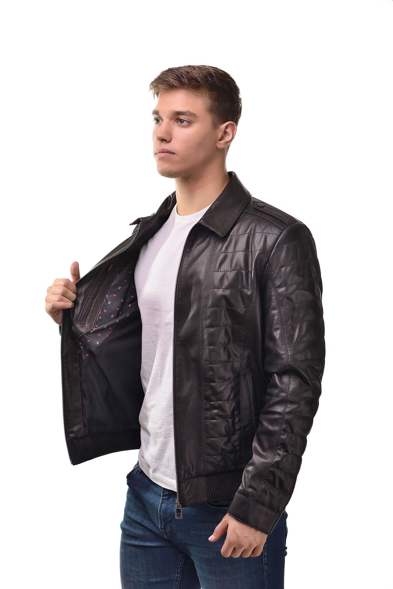 Мужская Кожаная куртка6160
