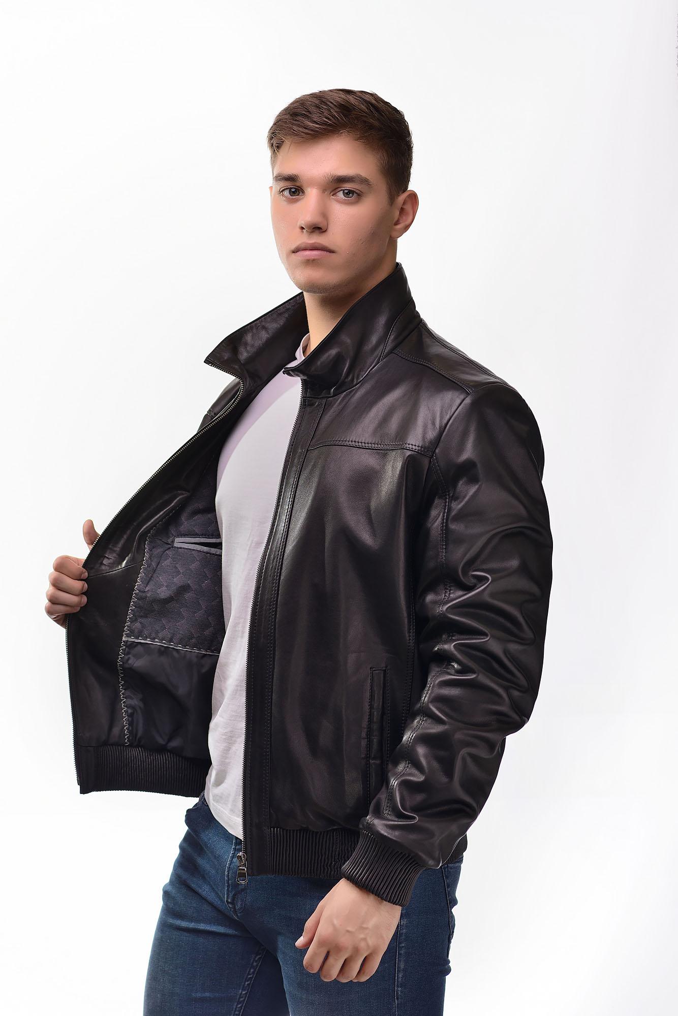 Мужская Кожаная курткаN-004