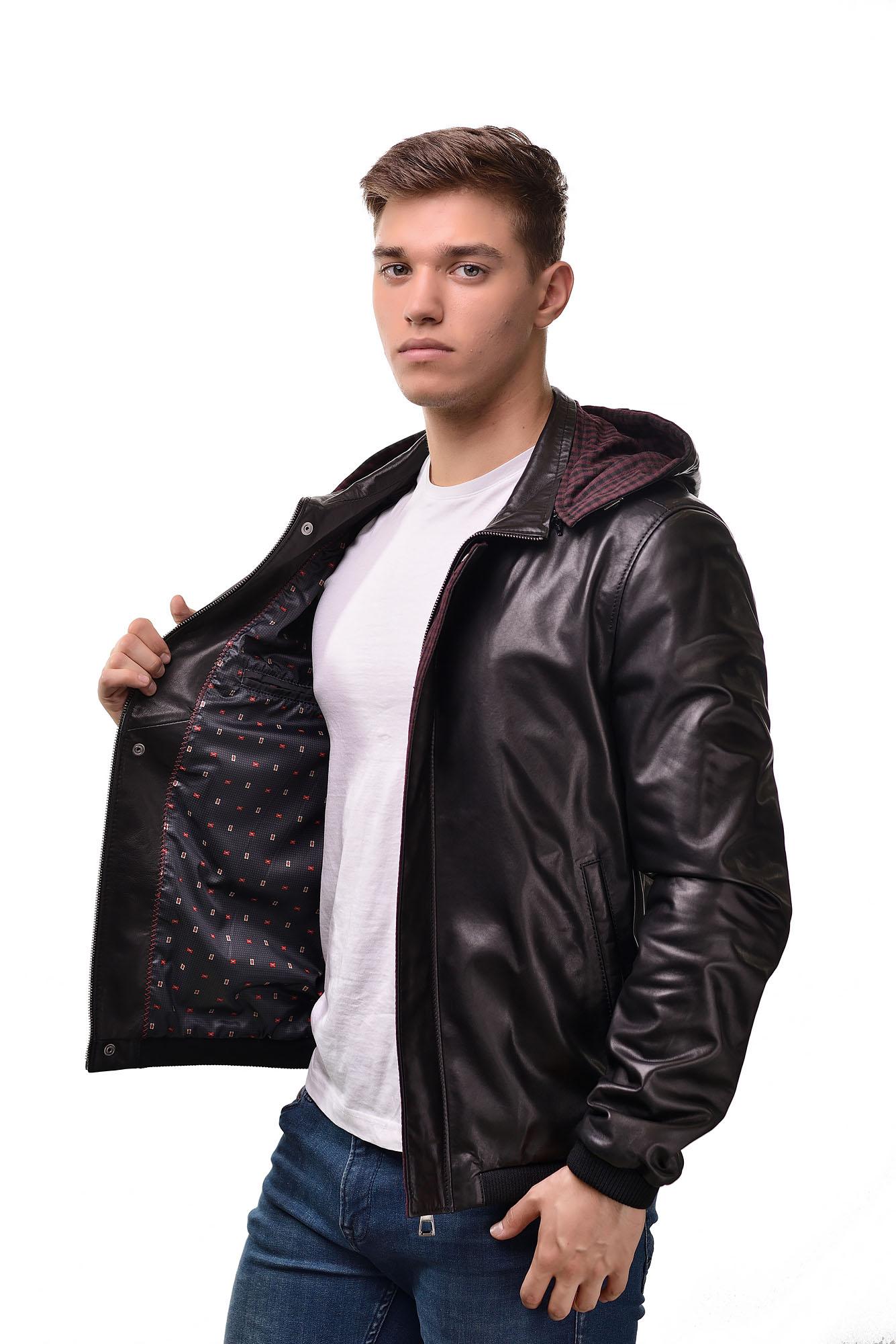 Мужская Кожаная куртка 6113