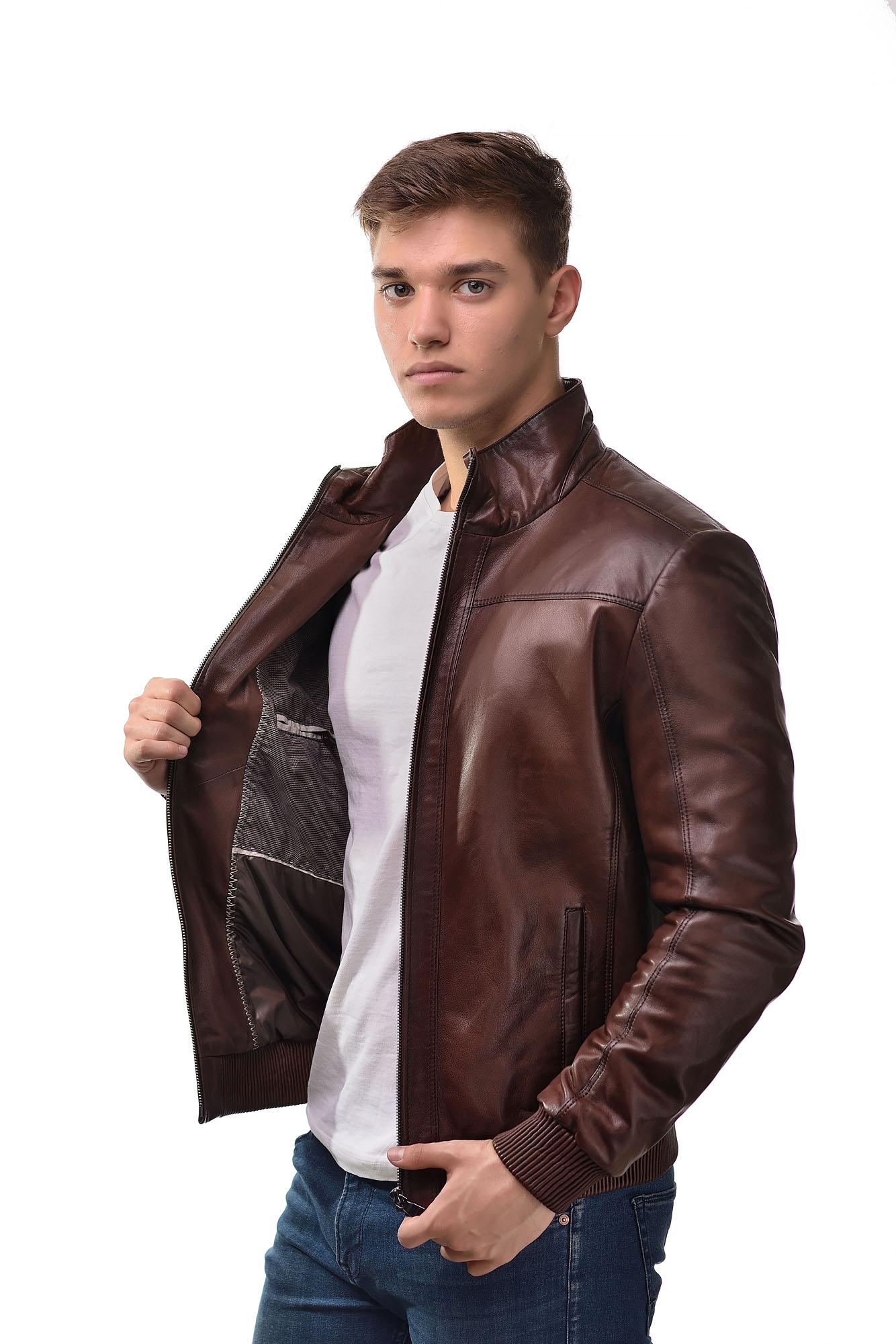 Мужская Кожаная куртка K-004