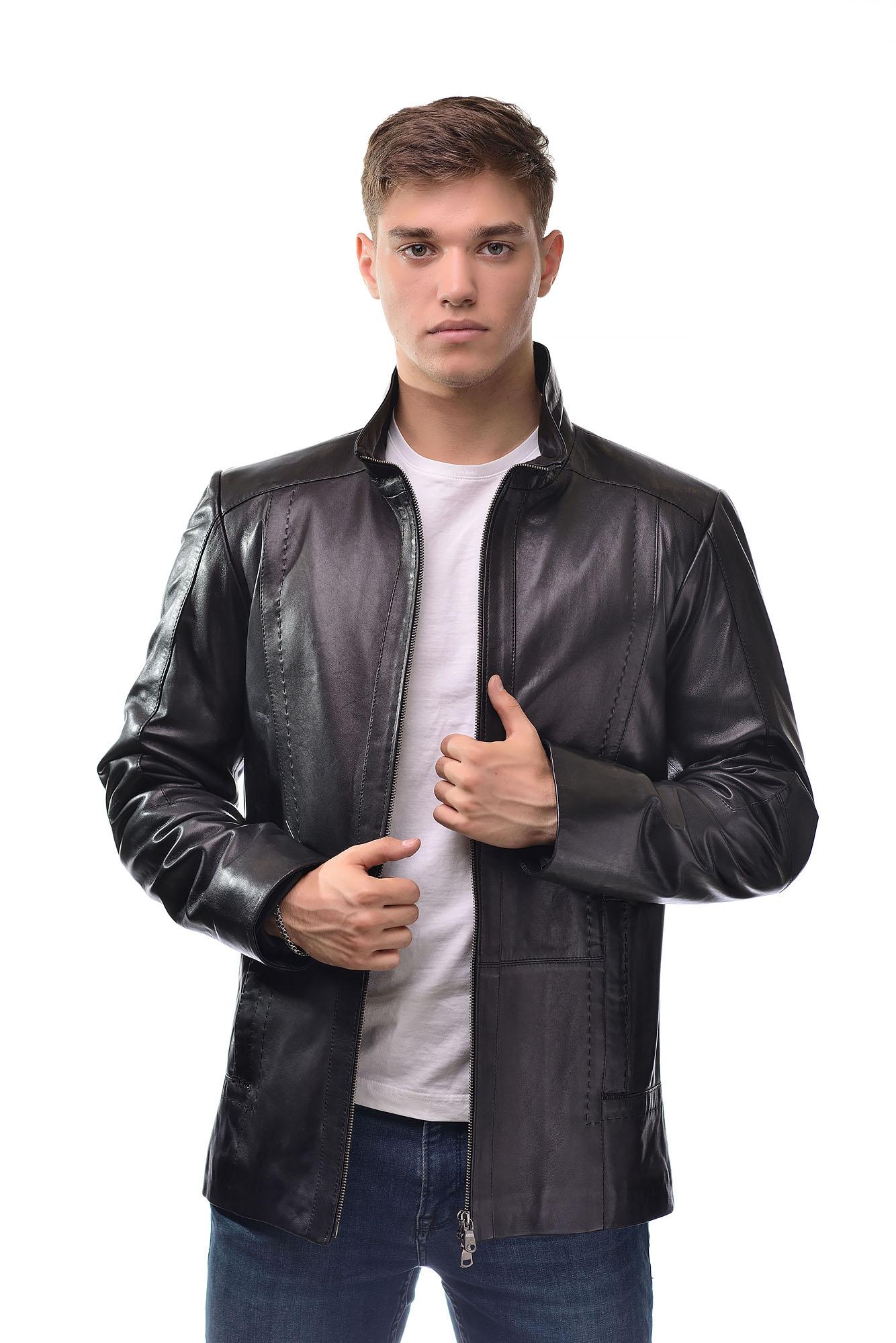 Мужская Кожаная куртка 1104