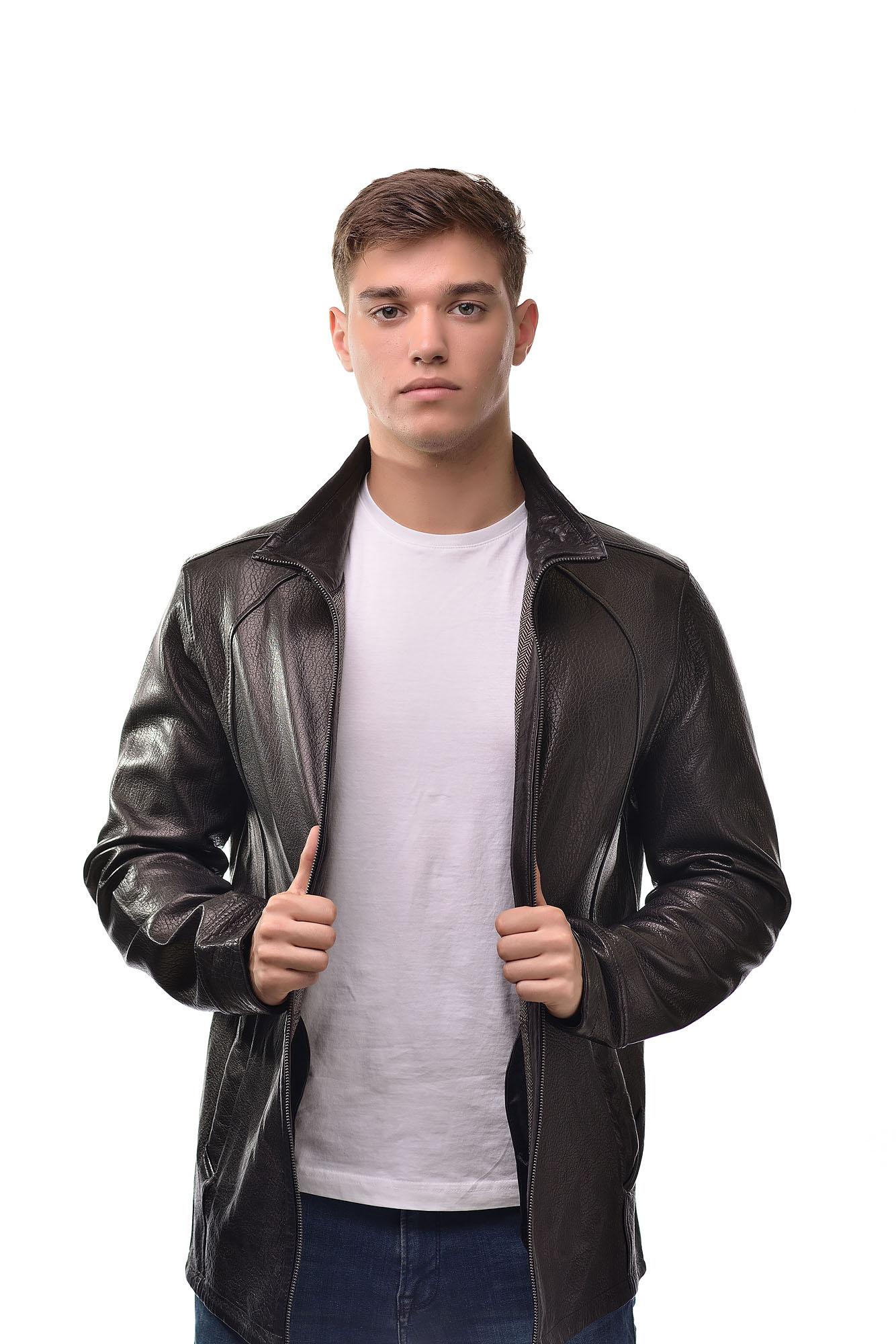 Мужская Кожаная куртка2828