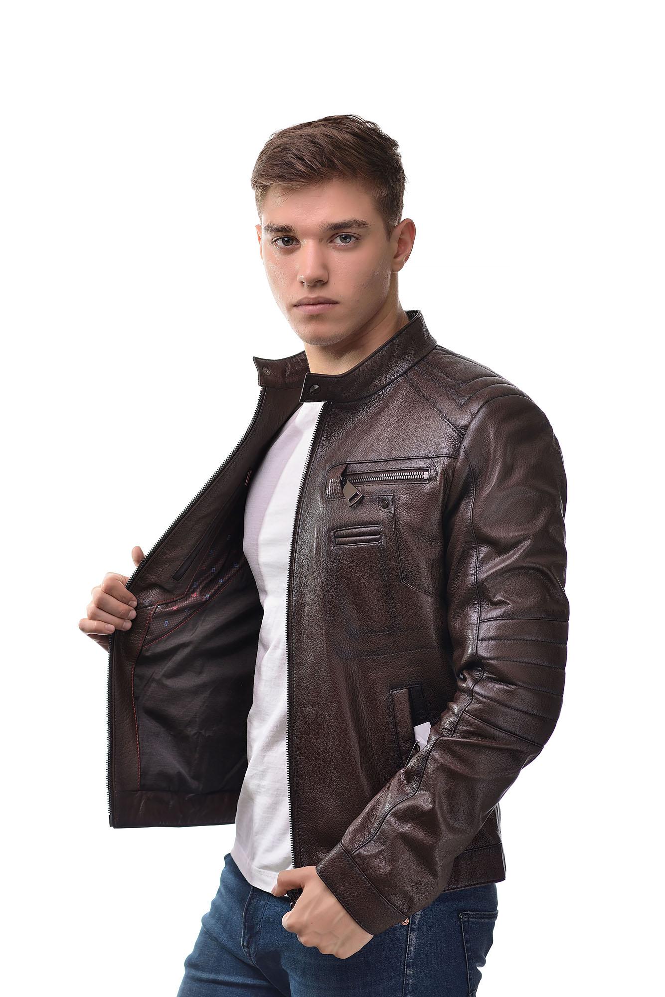 Мужская Кожаная куртка 9029