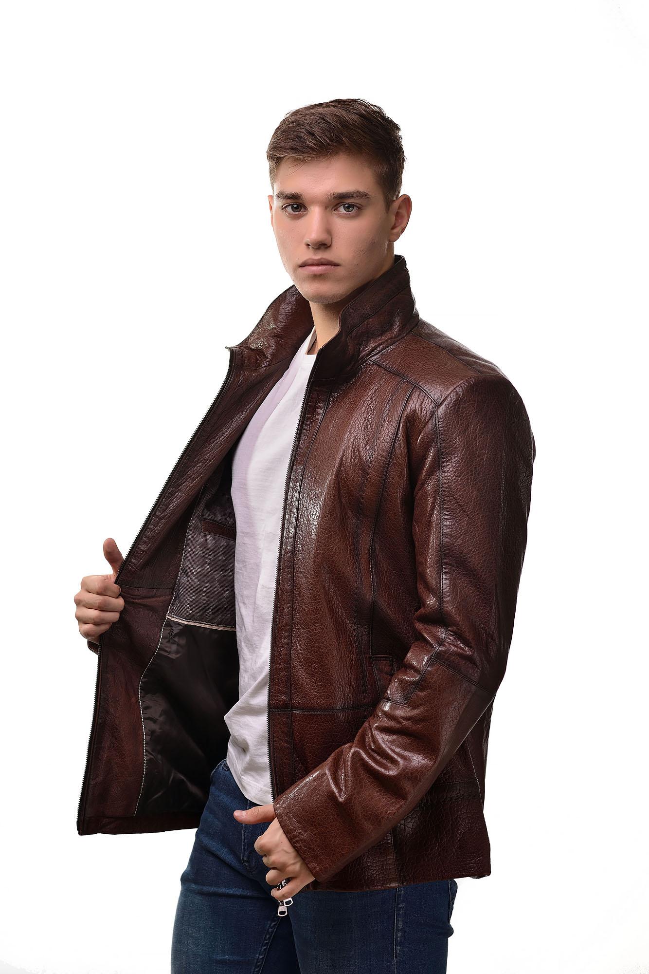 Мужская Кожаная куртка 7955