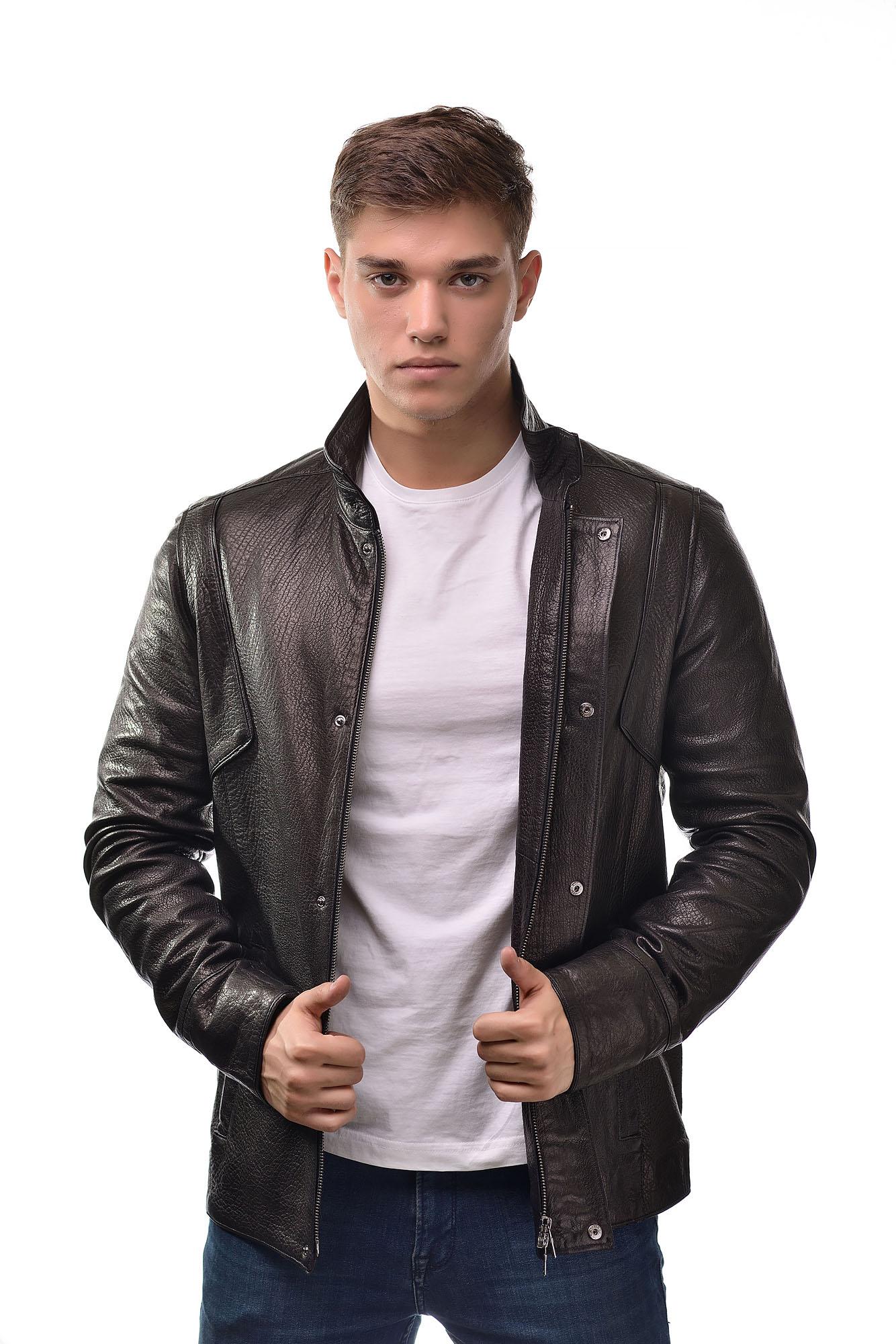 Мужская Кожаная куртка 2718