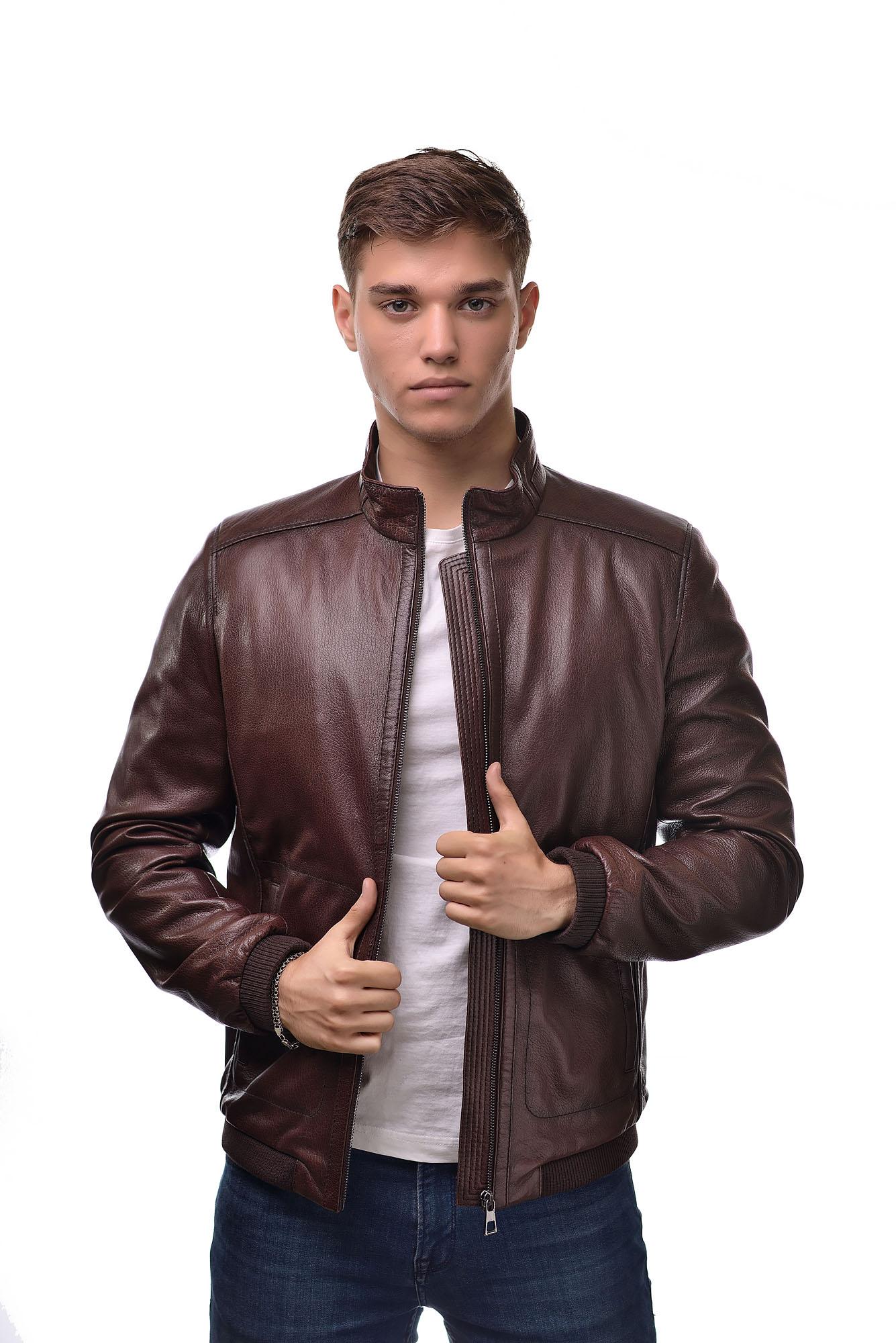 Мужская Кожаная куртка 6112
