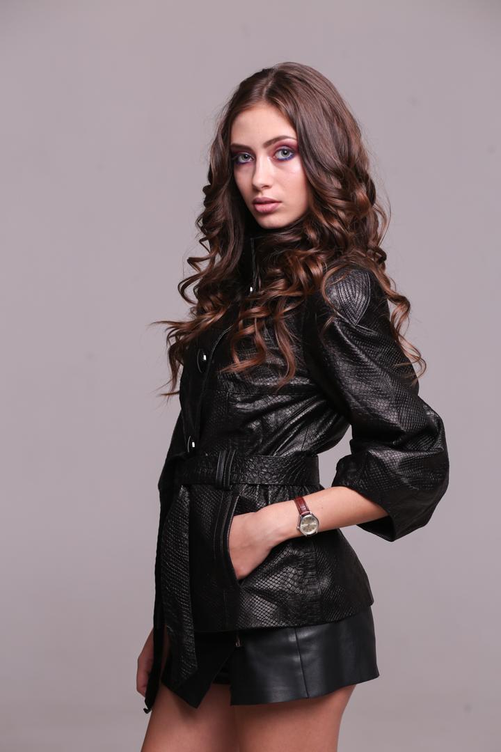Женская куртка из натуральной кожи15055