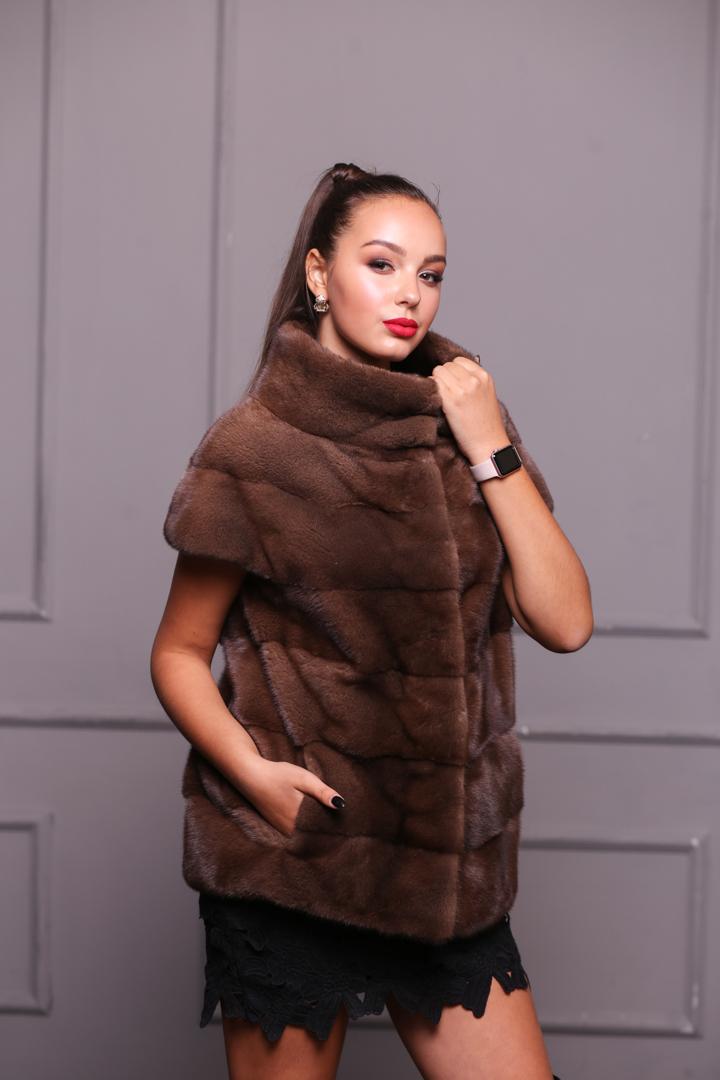 Женская норковая жилетка603