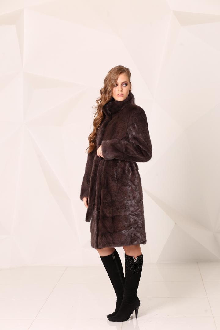 Женская шуба из меха норки15909-L