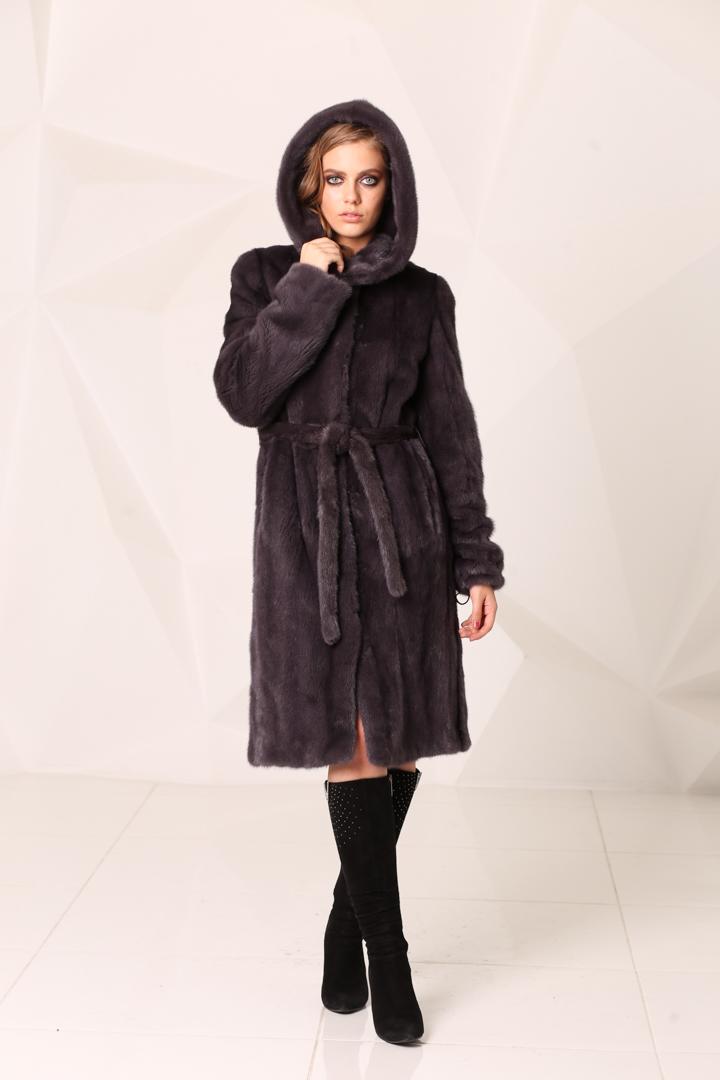 Женская шуба из меха норки2046(4)