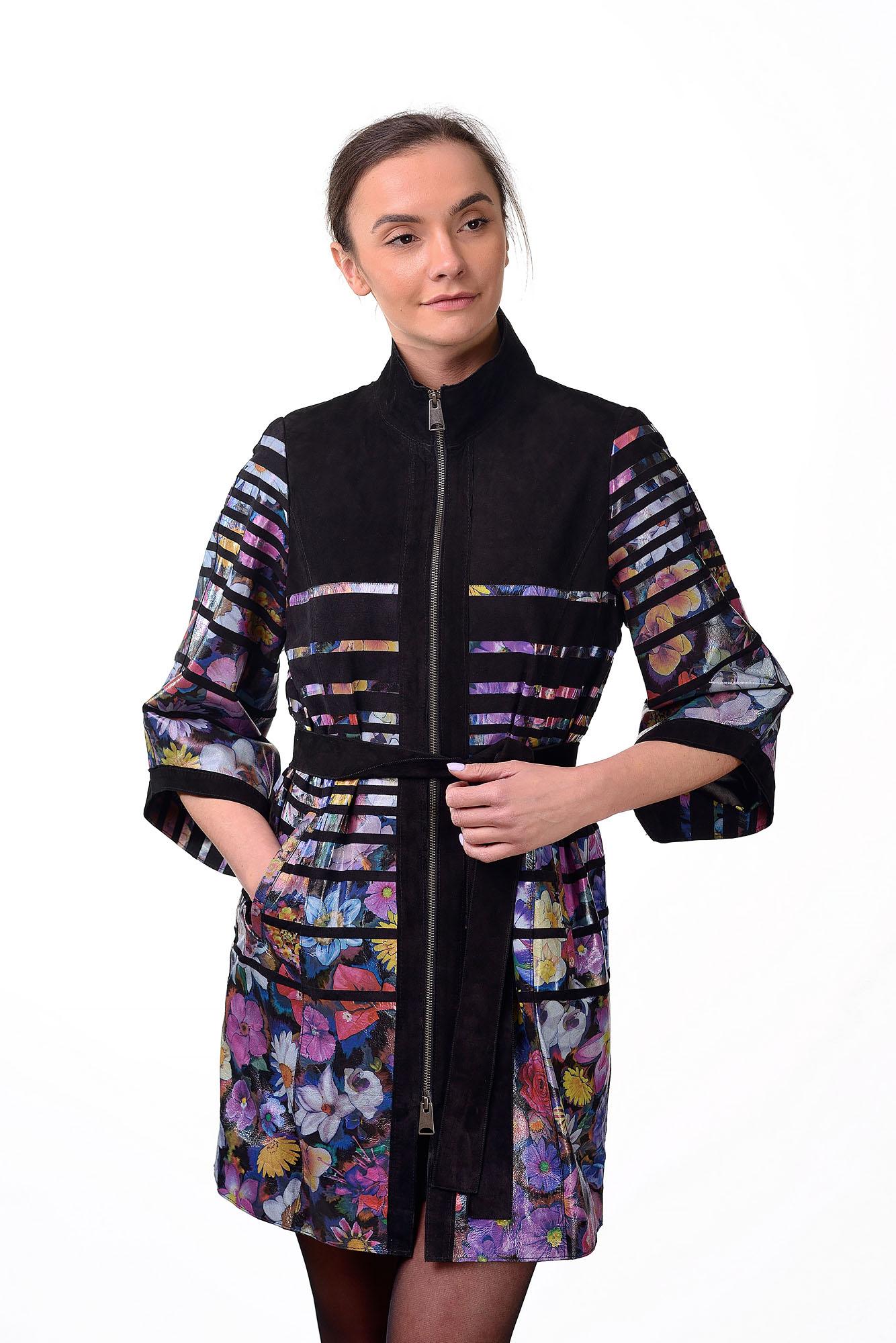 Женское кожаное пальто1448