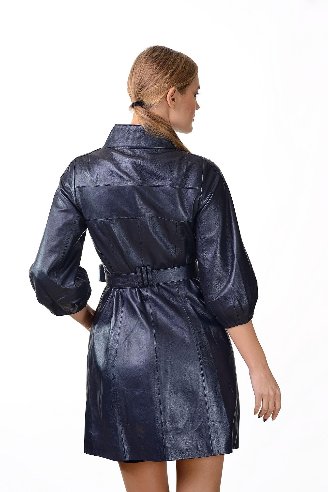 Женское кожаное пальто150=90