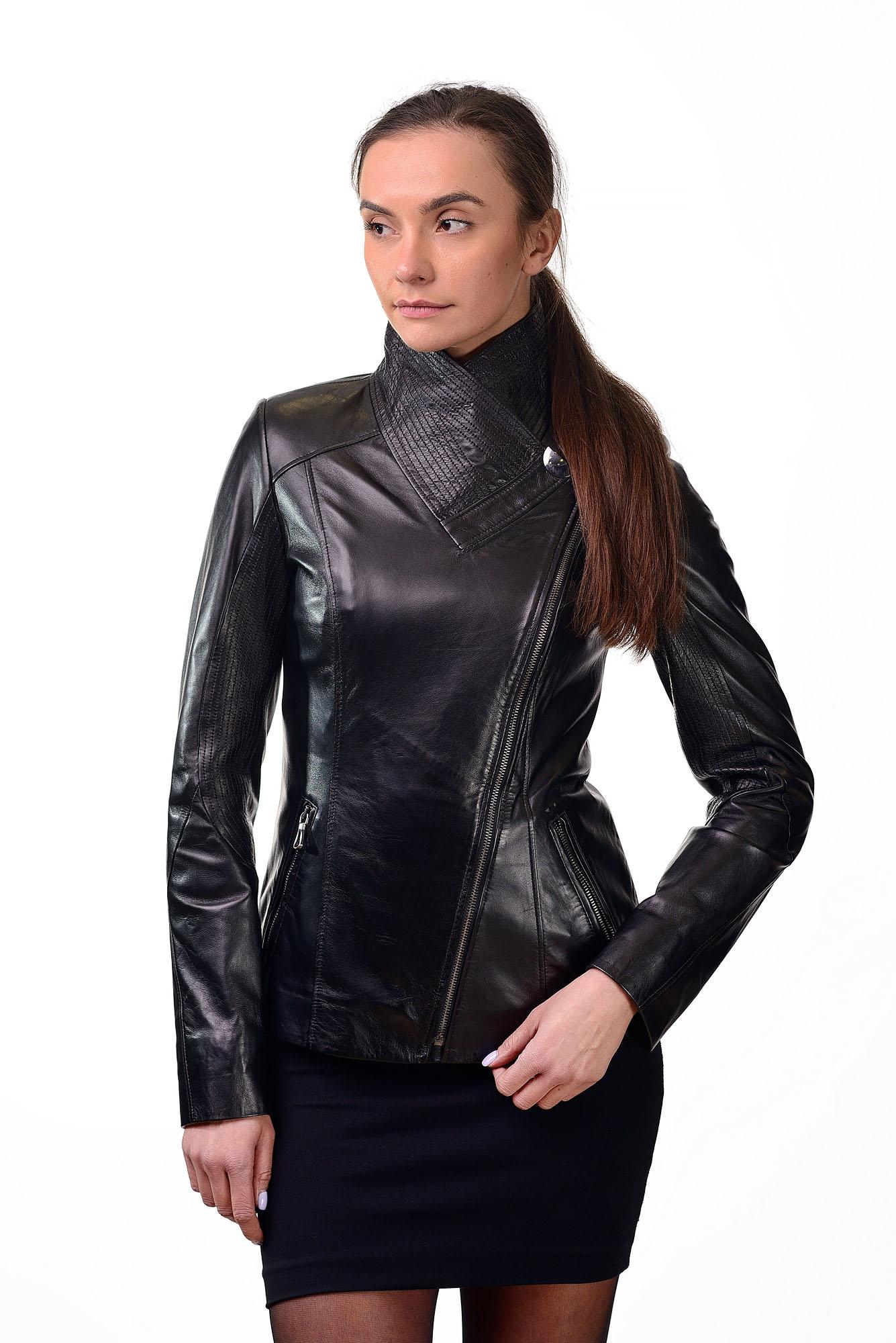 Женская кожаная курткаD=2225(1)