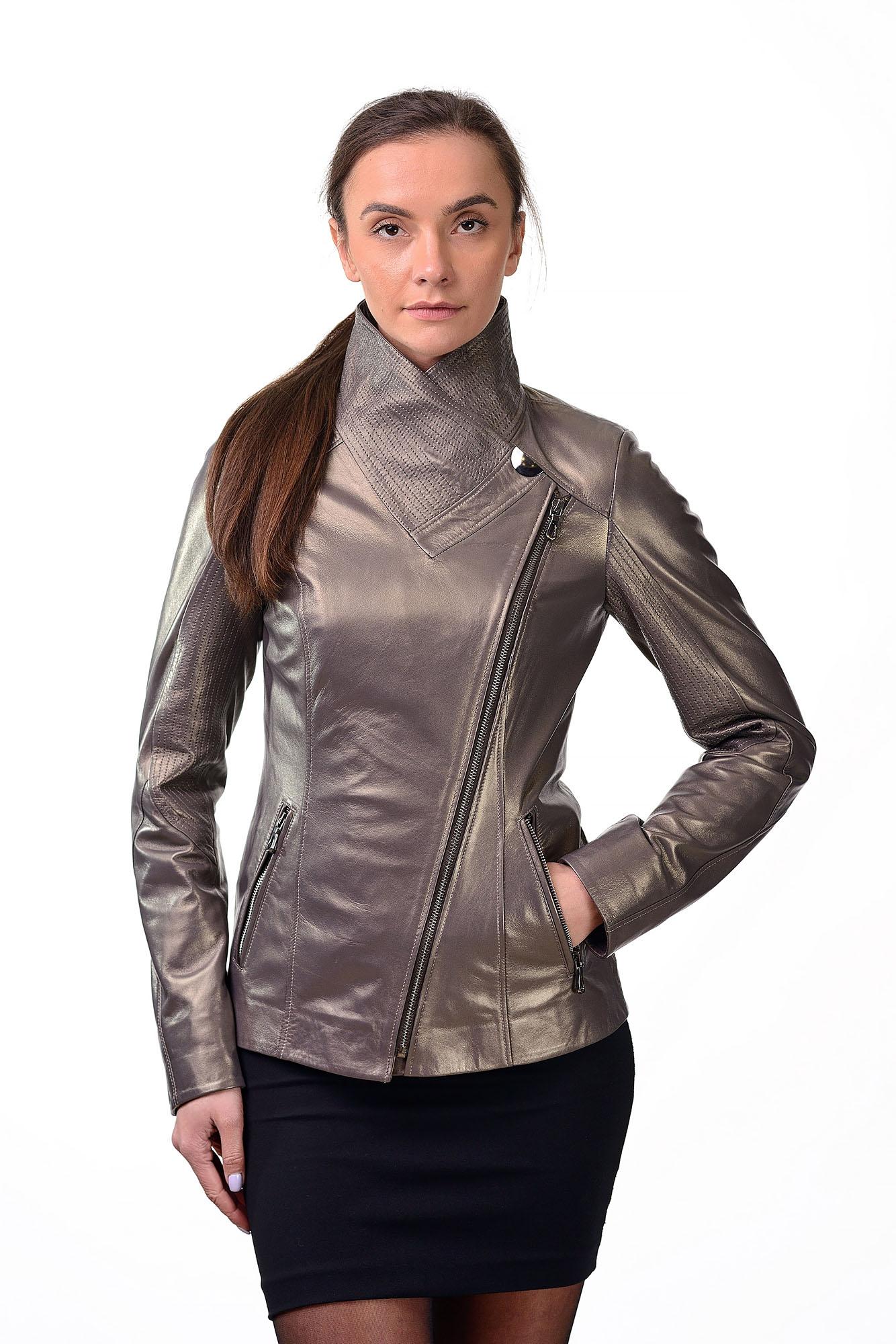 Женская кожаная курткаD=2225(2)