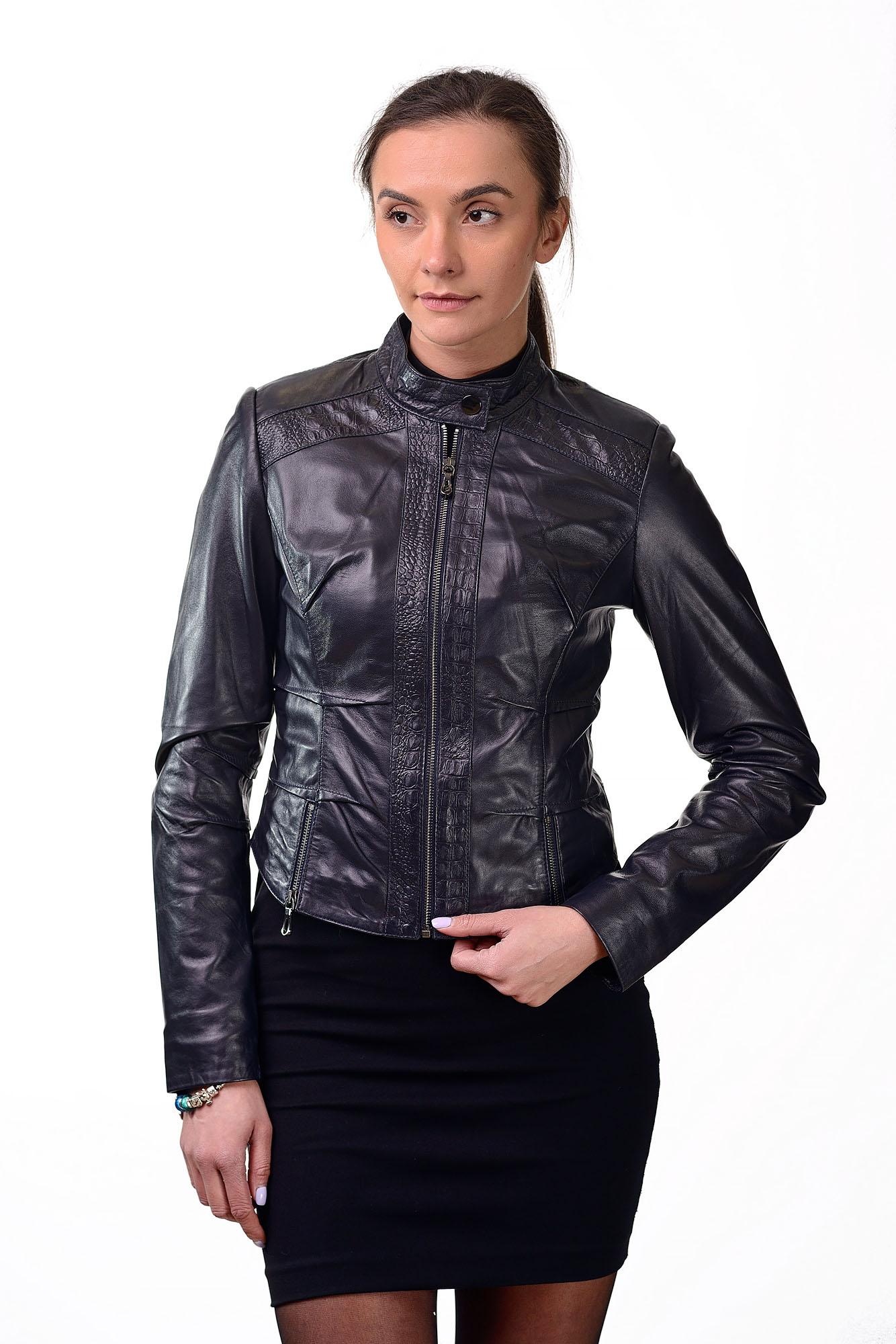 Женская кожаная курткаM=146