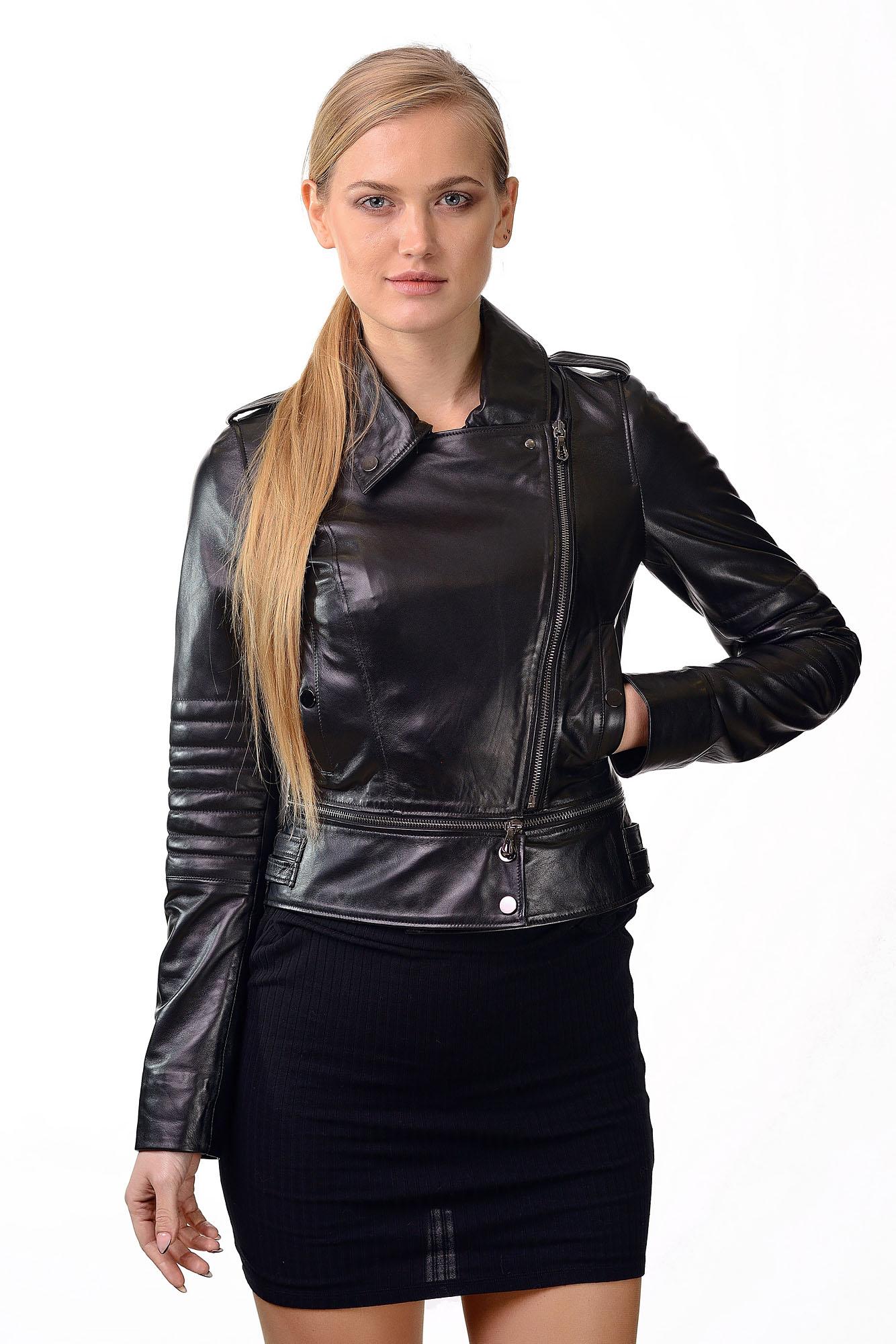 Женская кожаная куртка — косухаD=2220