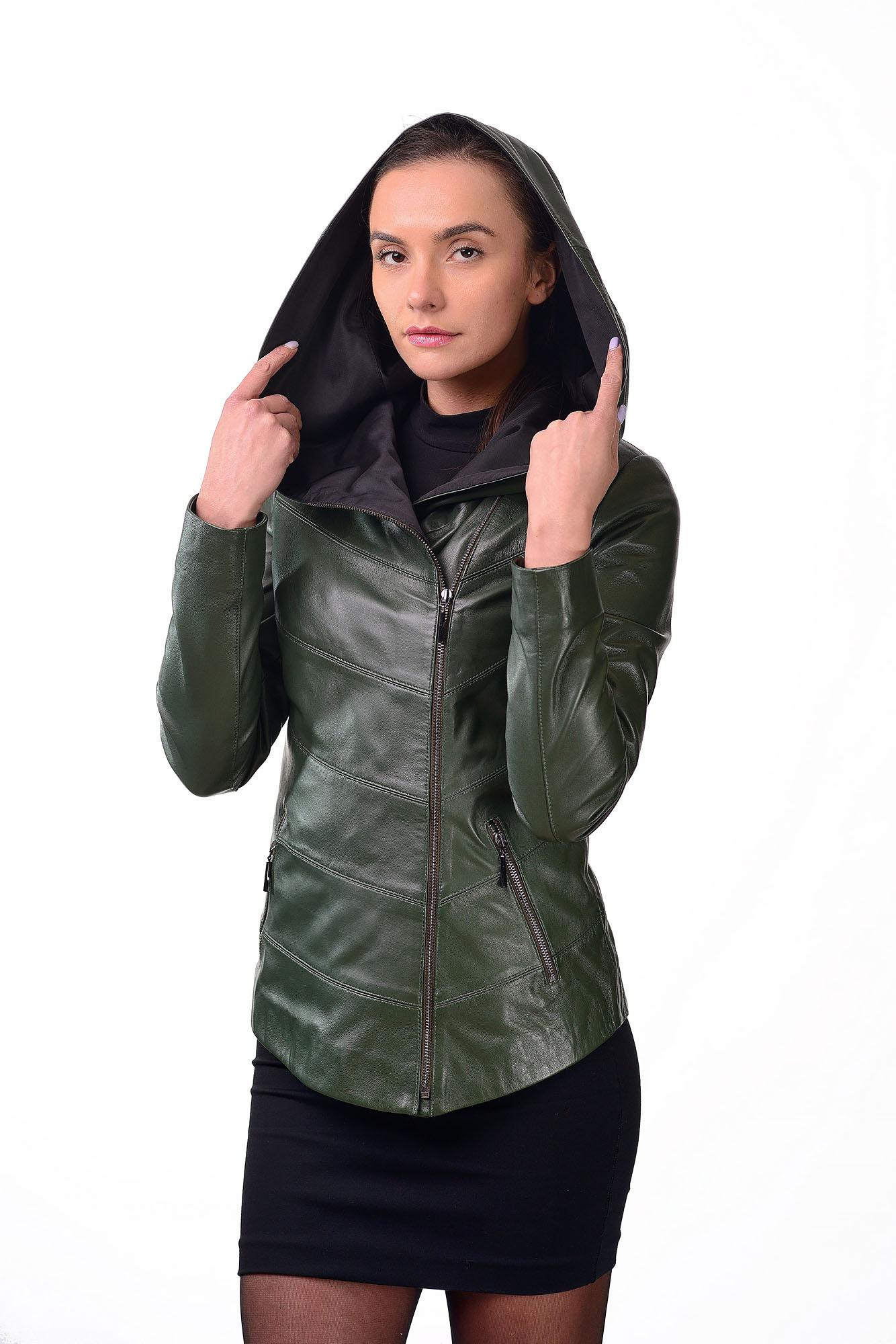 Женская кожаная курткаD=2224(2)