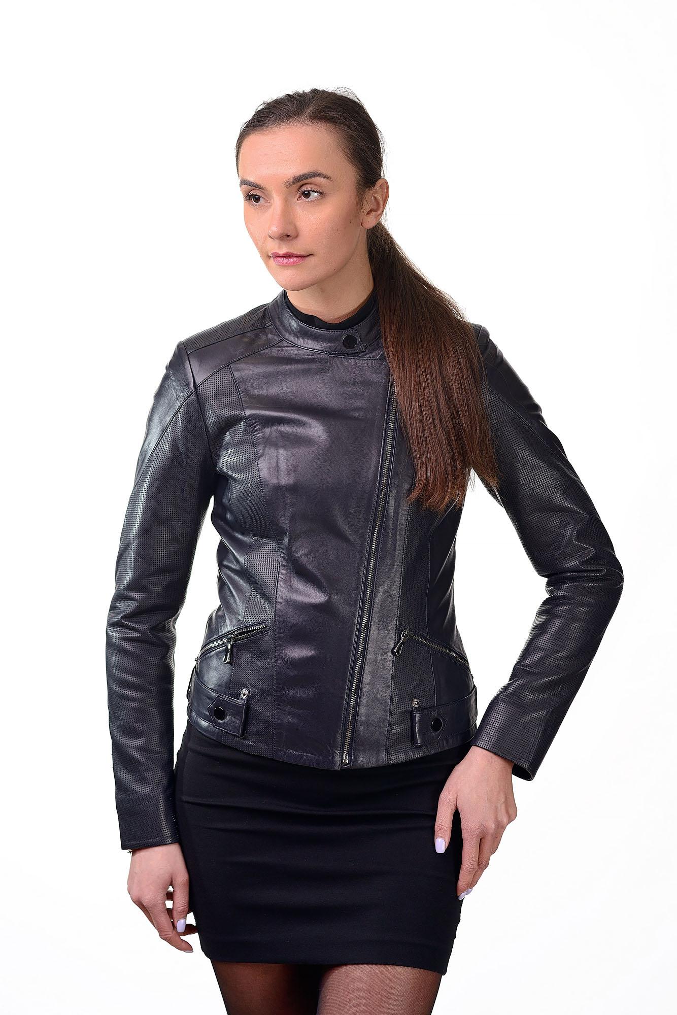Женская кожаная курткаM=152