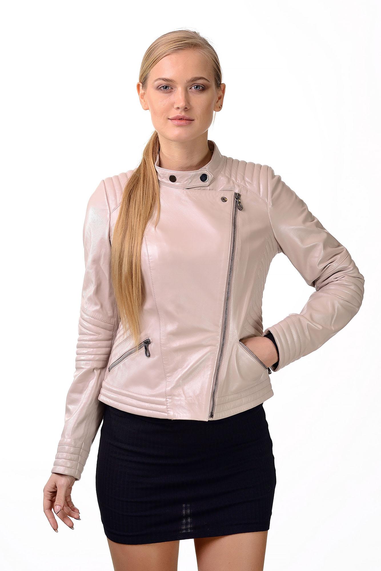 Женская кожаная курткаZ=07
