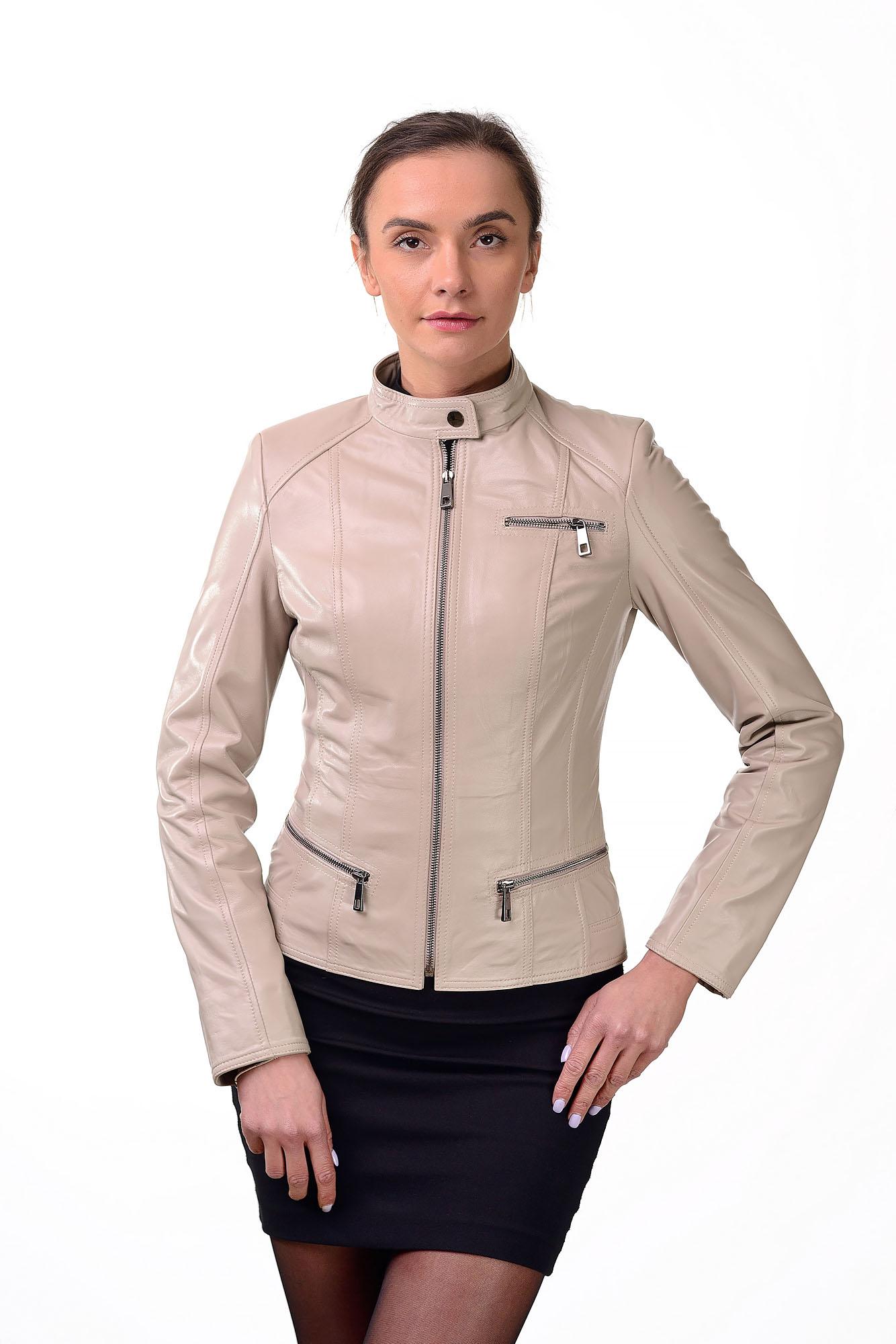 Женская кожаная курткаZ=08