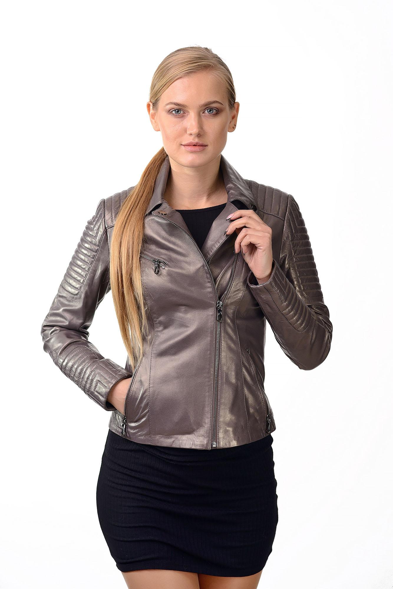 Женская кожаная куртка — косуха115
