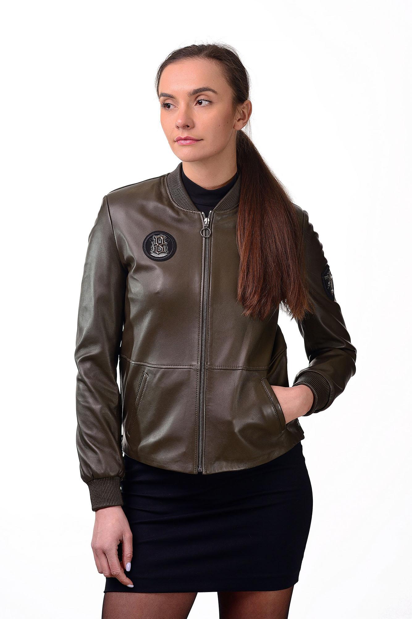 Женская кожаная куртка — бомберZ=63