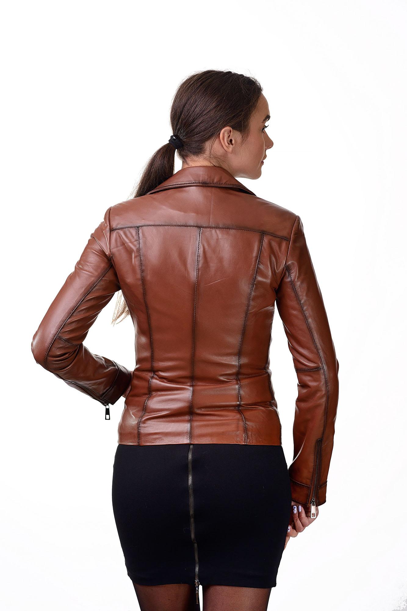 Женская кожаная куртка — косухаZ=06
