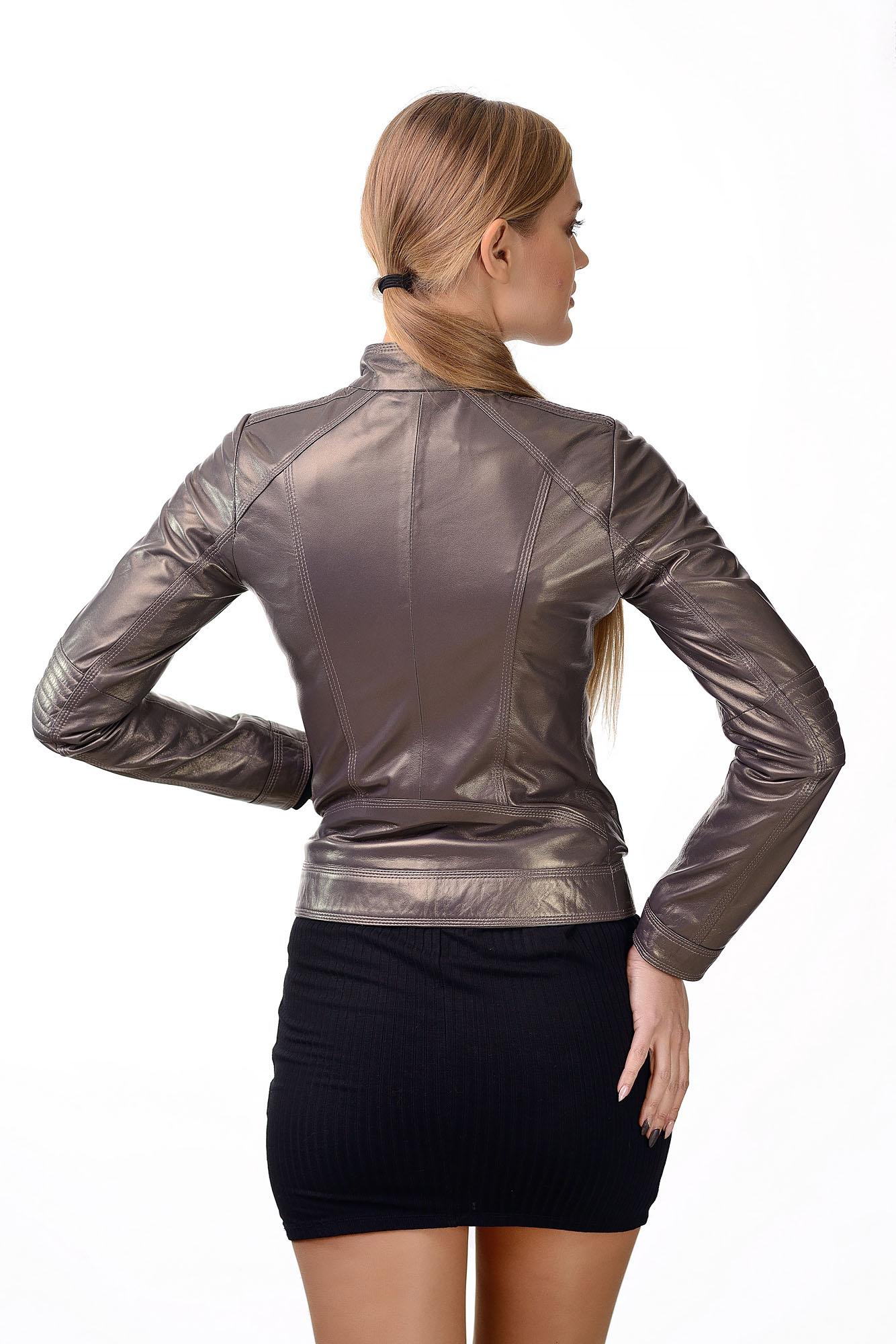 Женская кожаная курткаD=2222