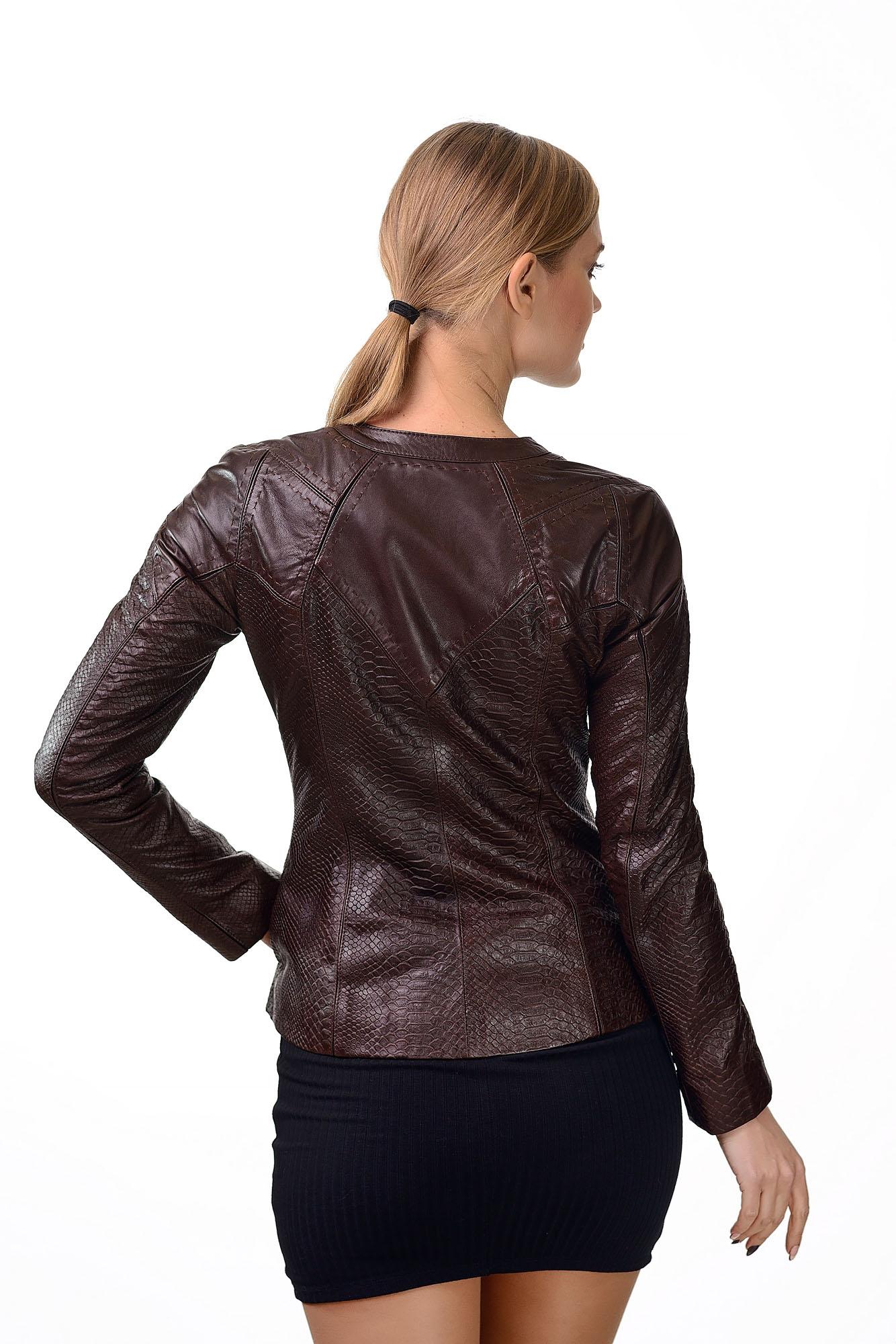 Женская кожаная куртка15369=A