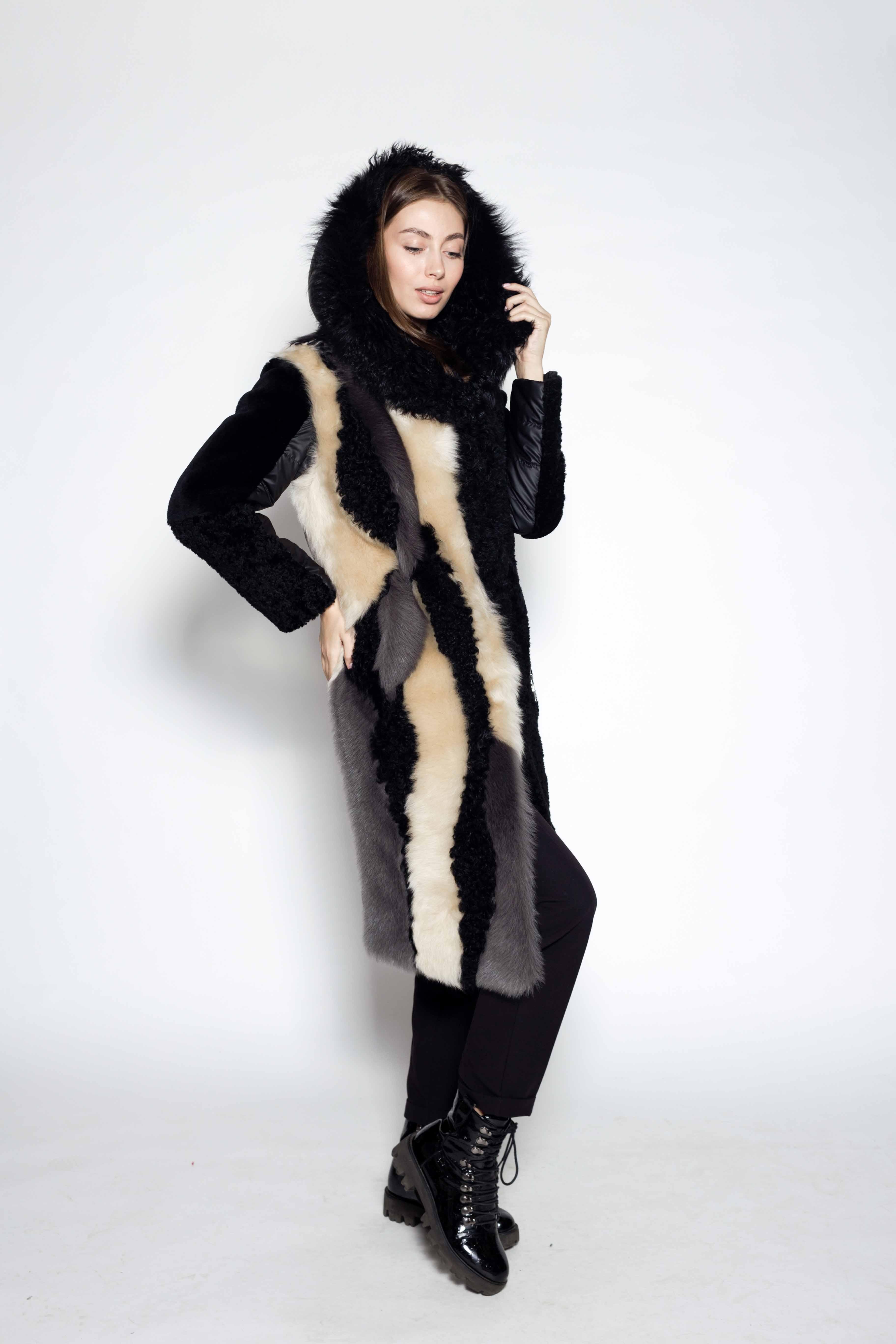 Женская шуба из овчины КК-10186
